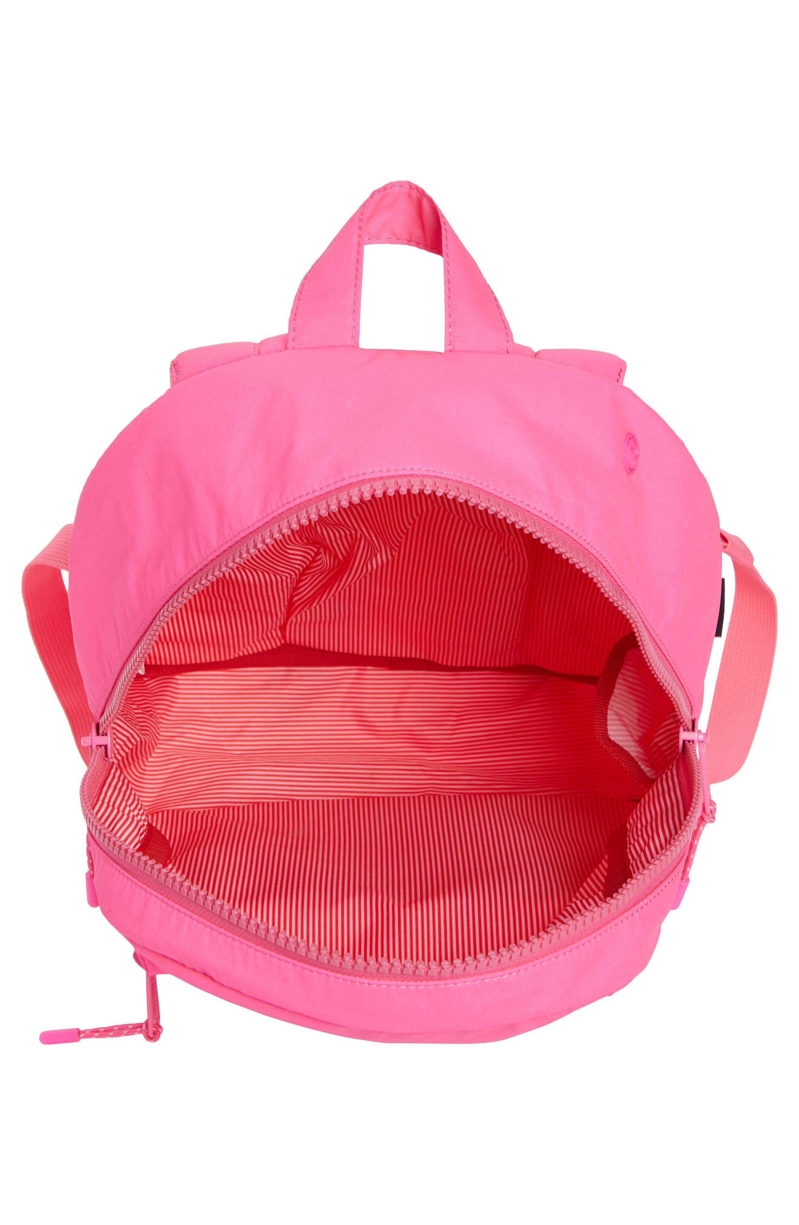 Heritage Backpack,                             Alternate thumbnail 5, color,                             Neon Pink Rubber