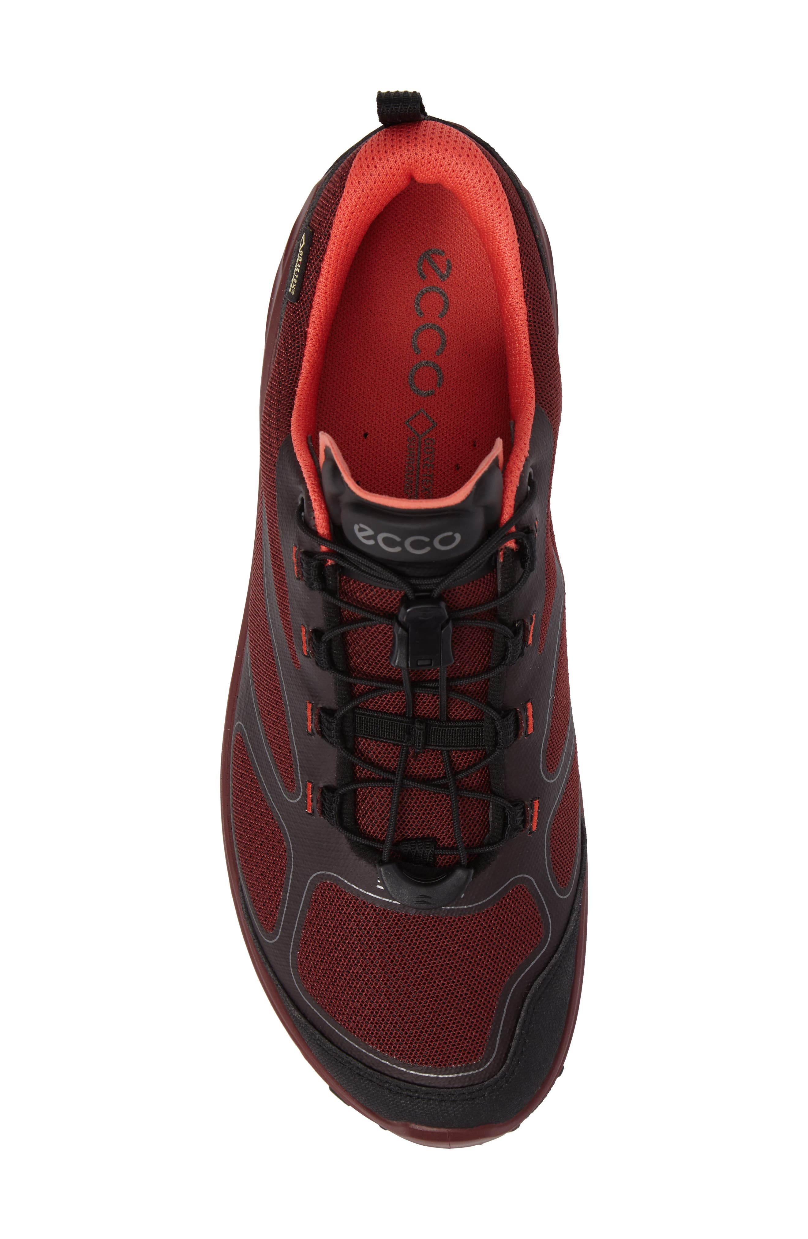 BIOM Venture GTX Sneaker,                             Alternate thumbnail 5, color,                             Black/ Coral Blush Fabric