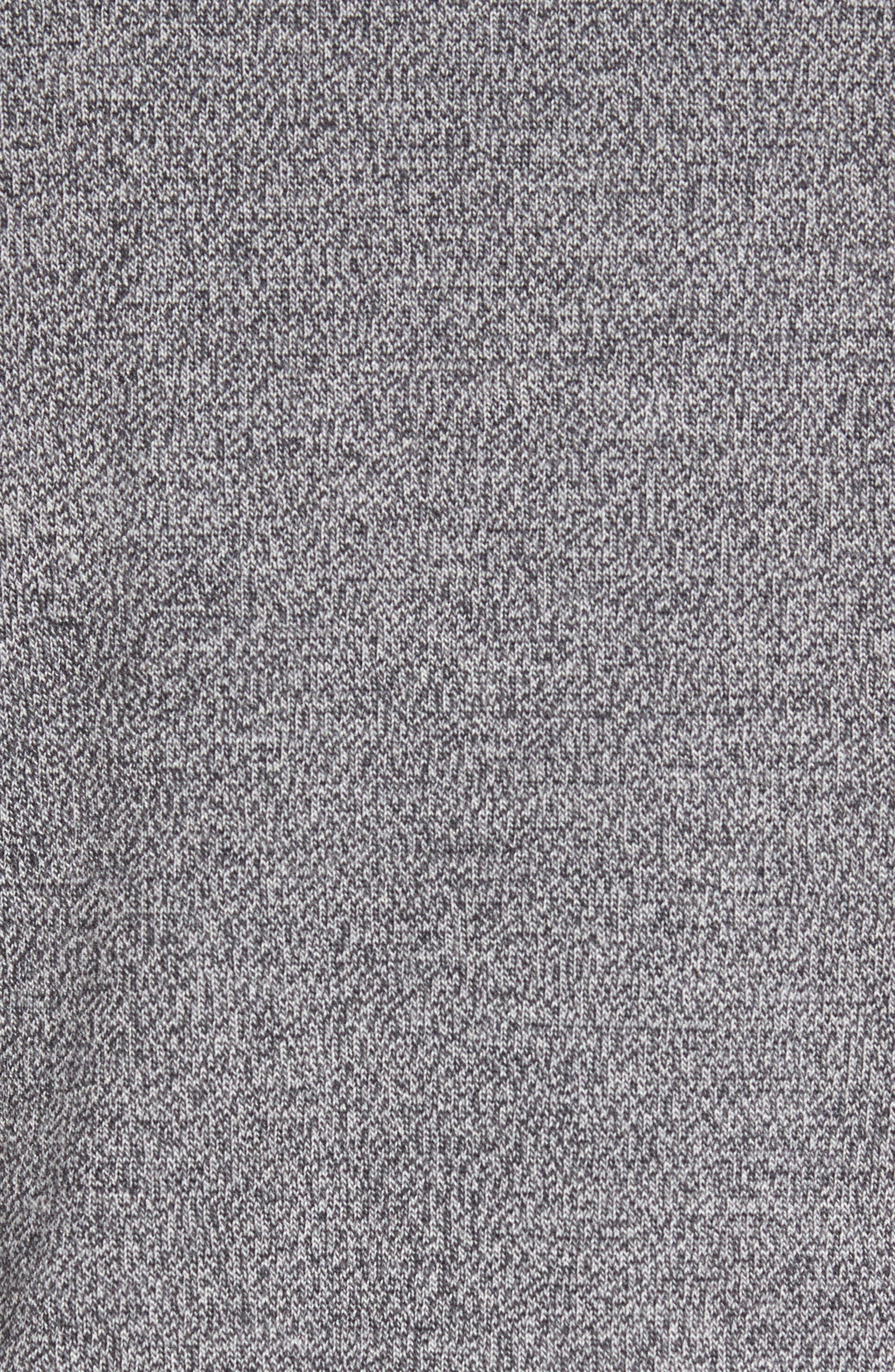 Contrast Trim Merino Wool Cardigan,                             Alternate thumbnail 6, color,                             Grey Heather Marl