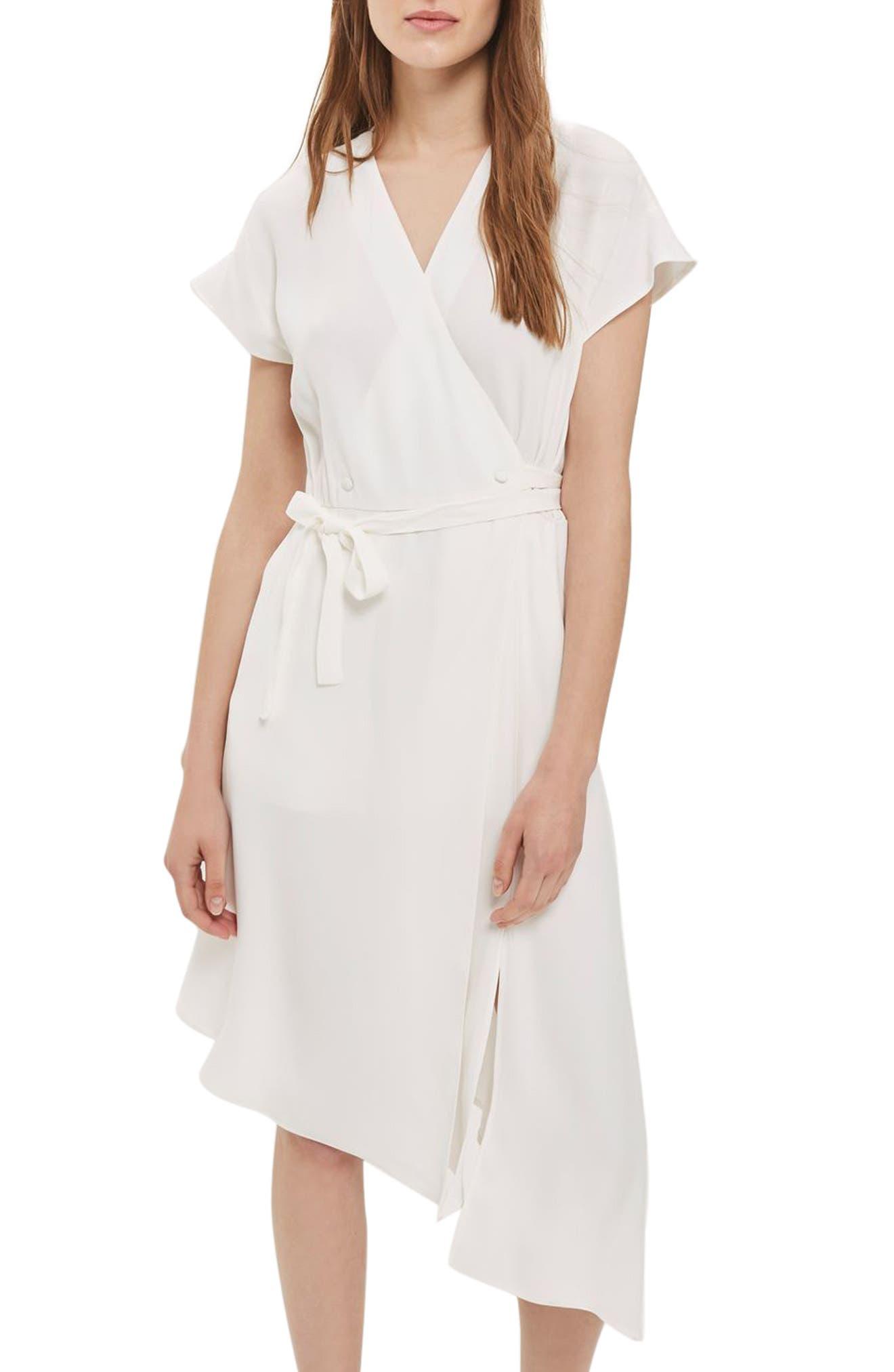 Alternate Image 1 Selected - Topshop Asymmetrical Wrap Midi Dress