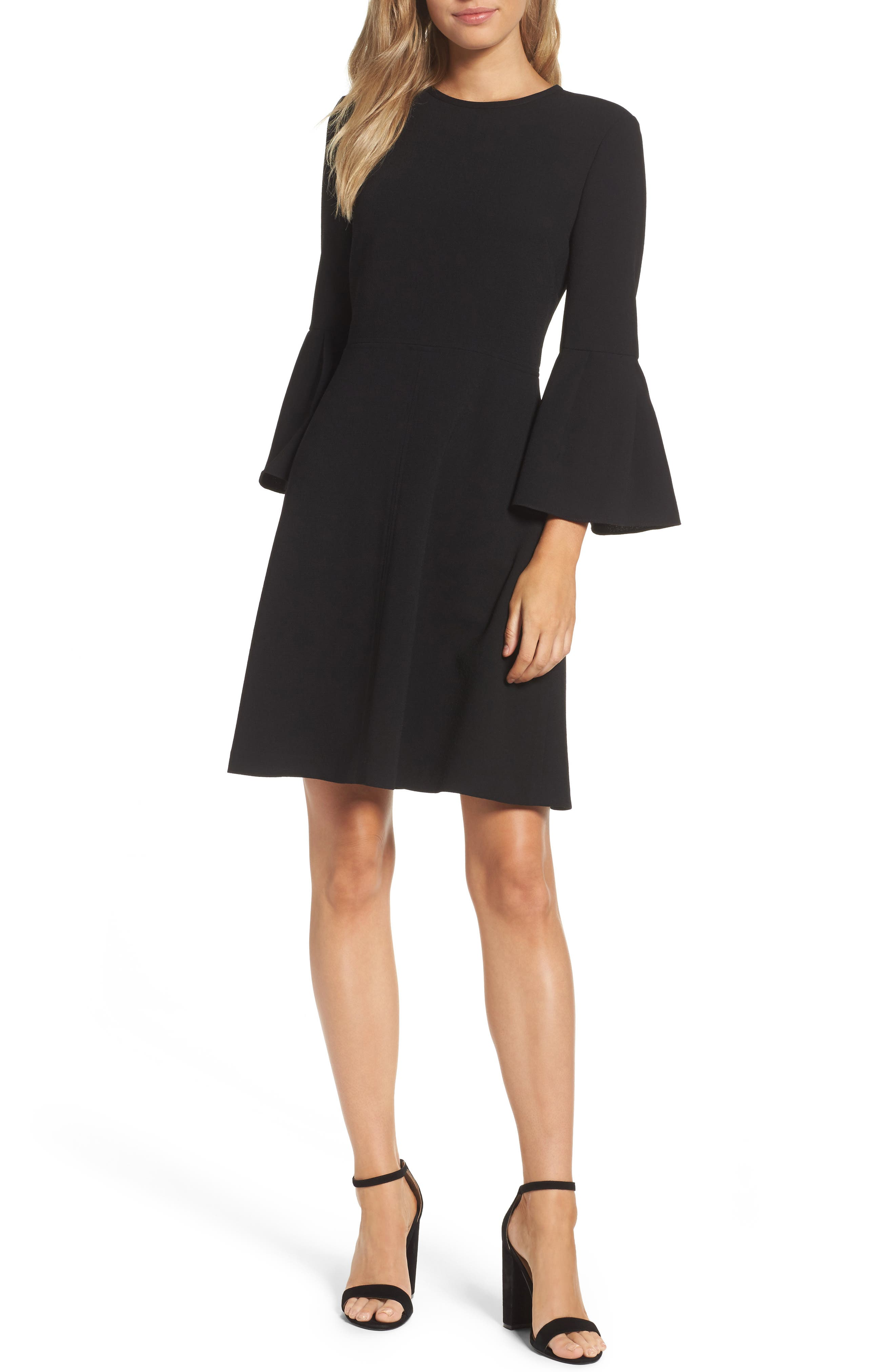 Eliza J Bell Sleeve Fit & Flare Dress