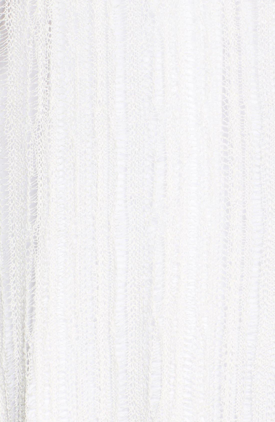 'Smokey' Fringe Sweater Vest,                             Alternate thumbnail 3, color,                             Ivory