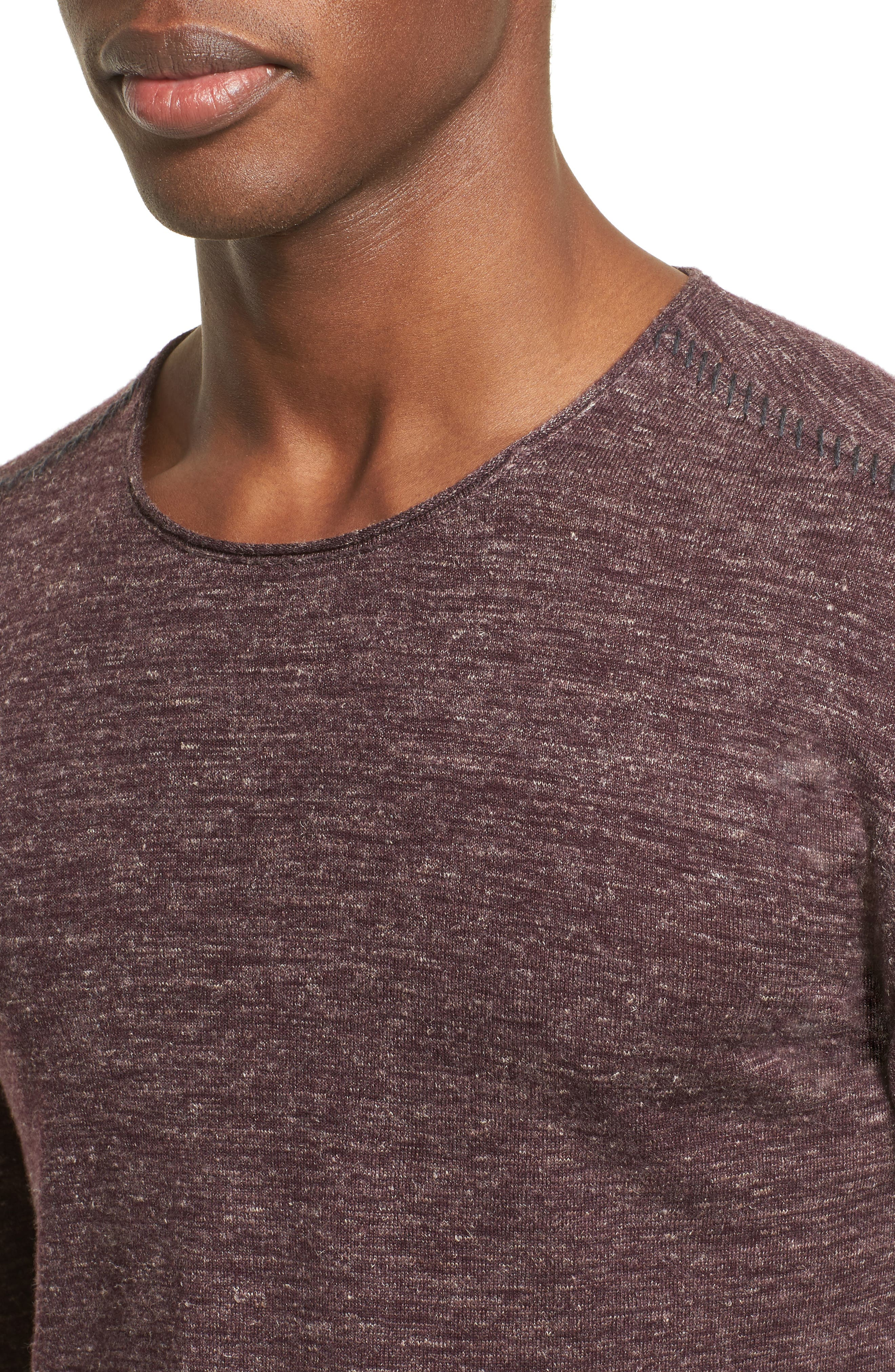 Alternate Image 4  - John Varvatos Collection Heathered Crewneck Sweater