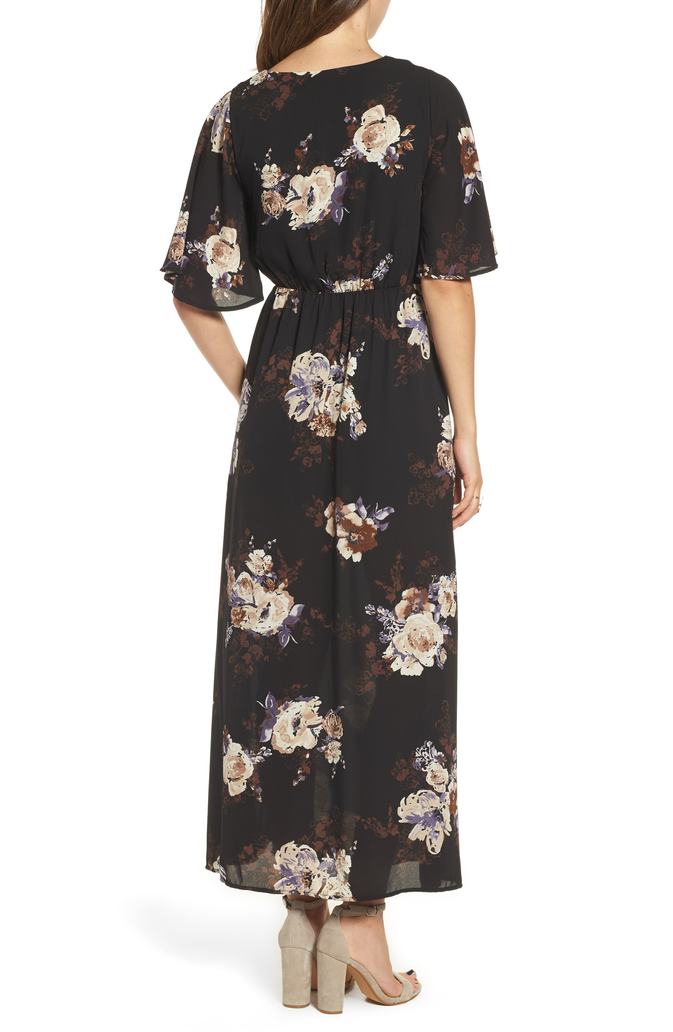 Alternate Image 2  - Everly Floral Print Woven Maxi Dress