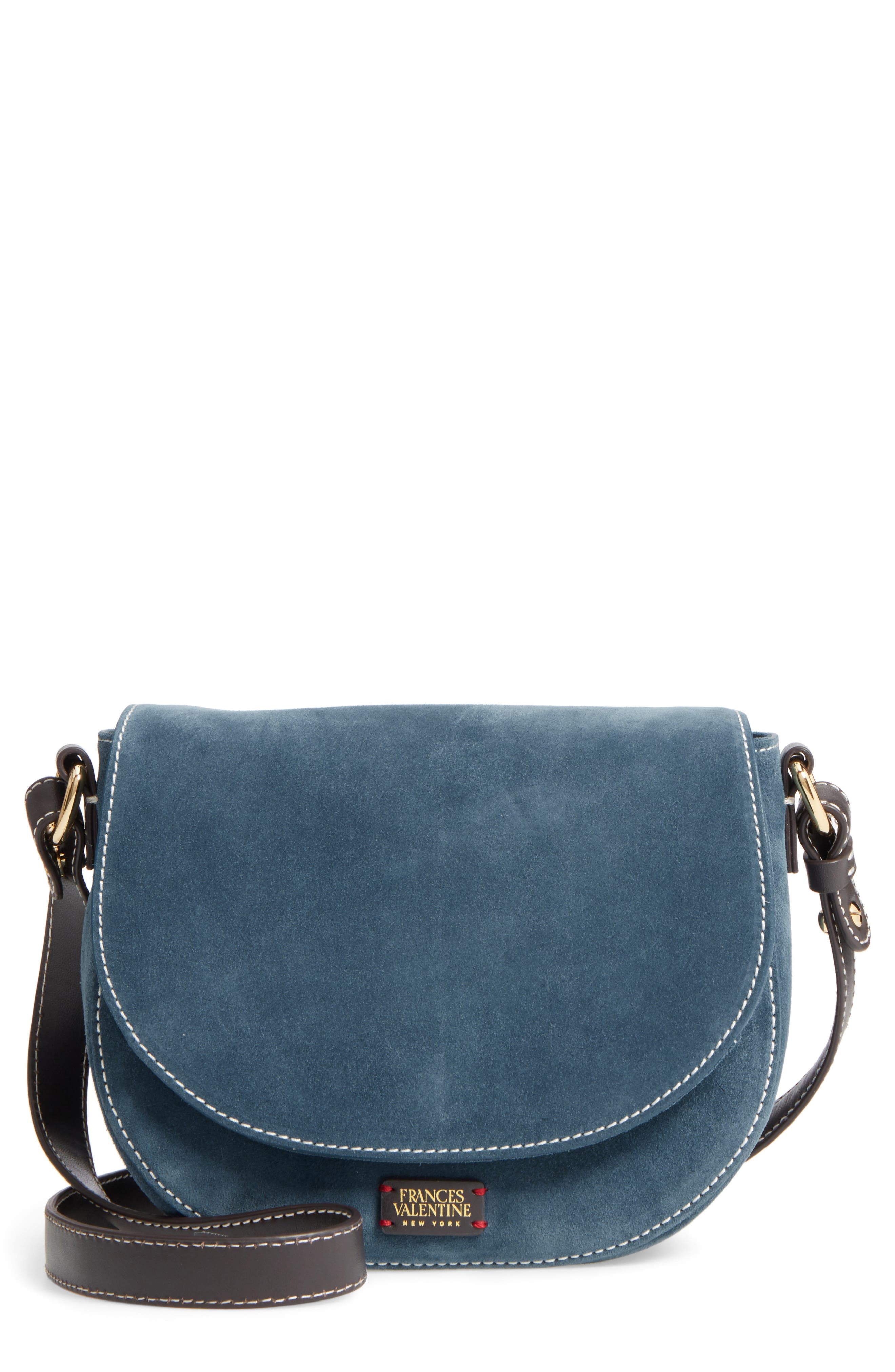 Mini Ellen Suede Crossbody Bag,                             Main thumbnail 1, color,                             Dark Teal