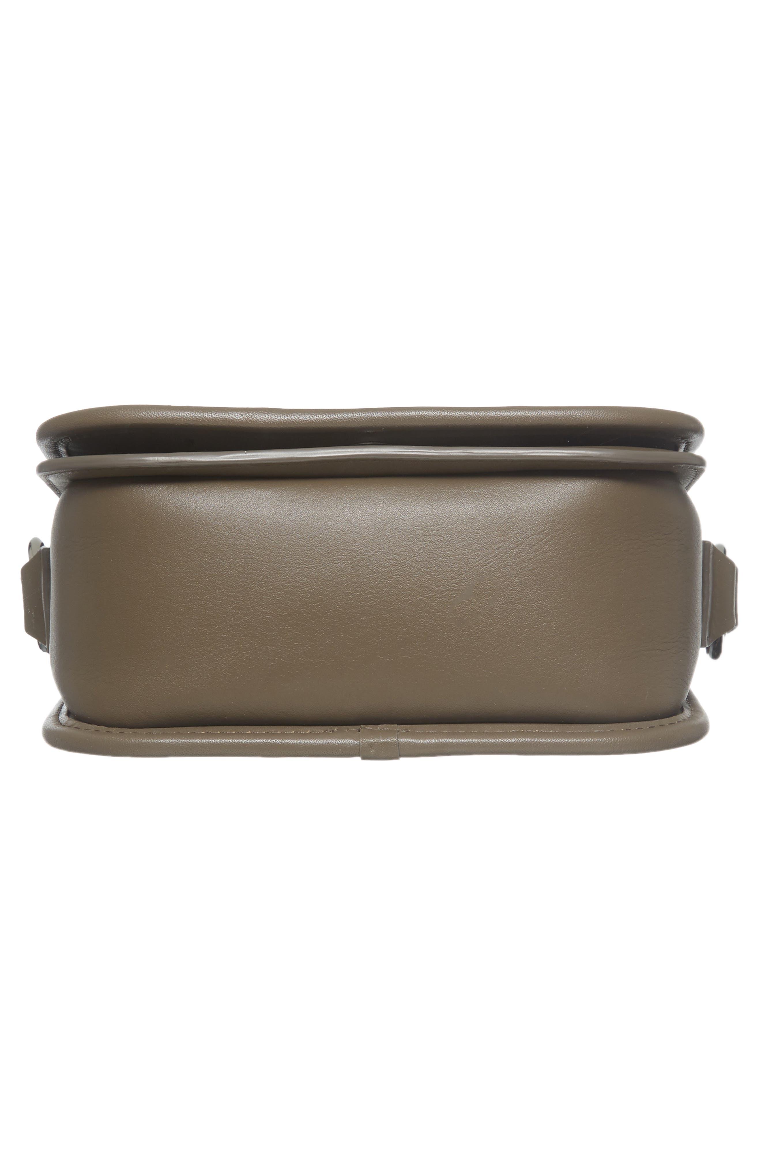 Alternate Image 4  - ALLSAINTS Ikuya Leather & Genuine Snakeskin Clutch