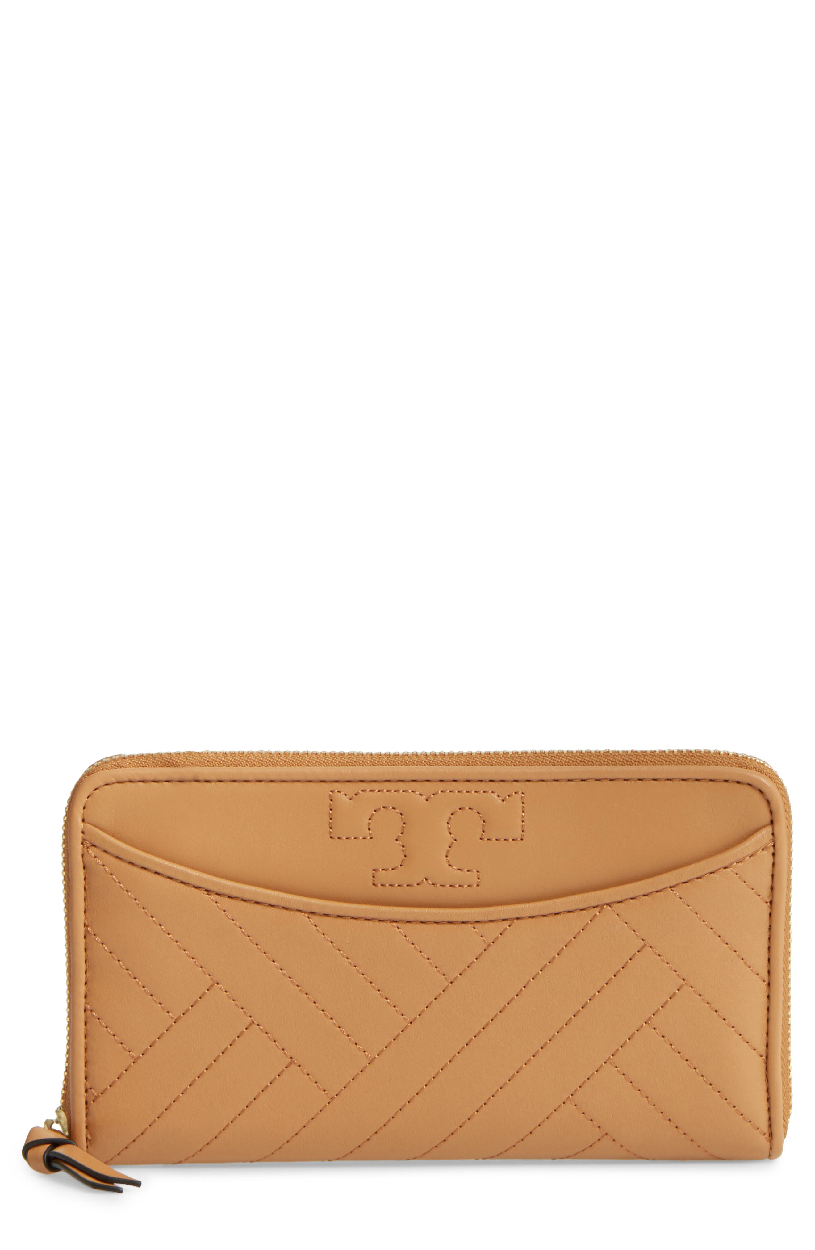 Tory Burch Alexa Quilted Leather Continental Wallet