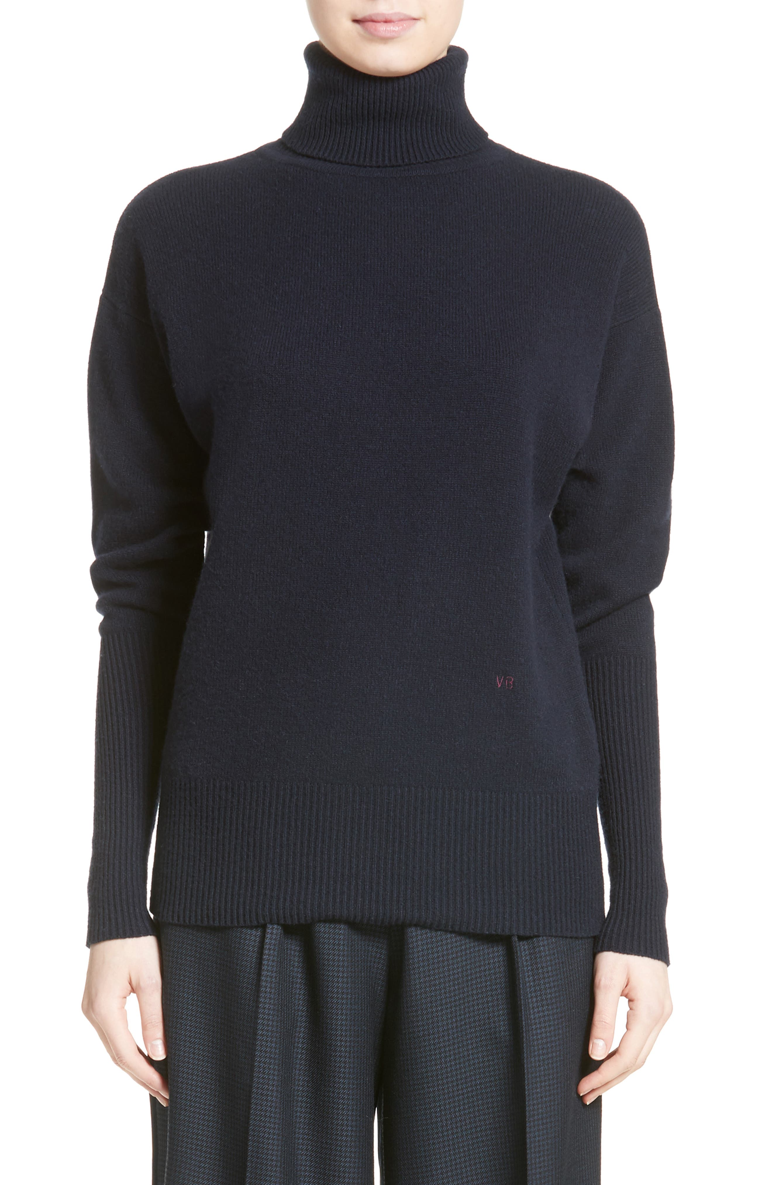 Main Image - Victoria Beckham Cashmere Turtleneck Sweater