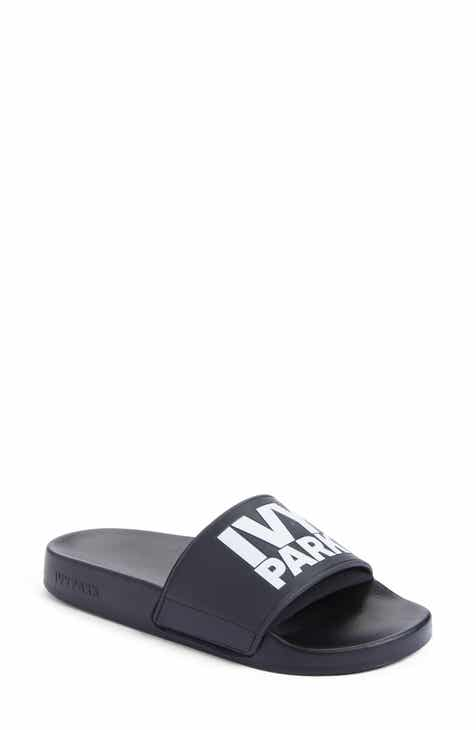 73b346ed0d1c85 IVY PARK® Neoprene Lined Logo Slide Sandal (Women)