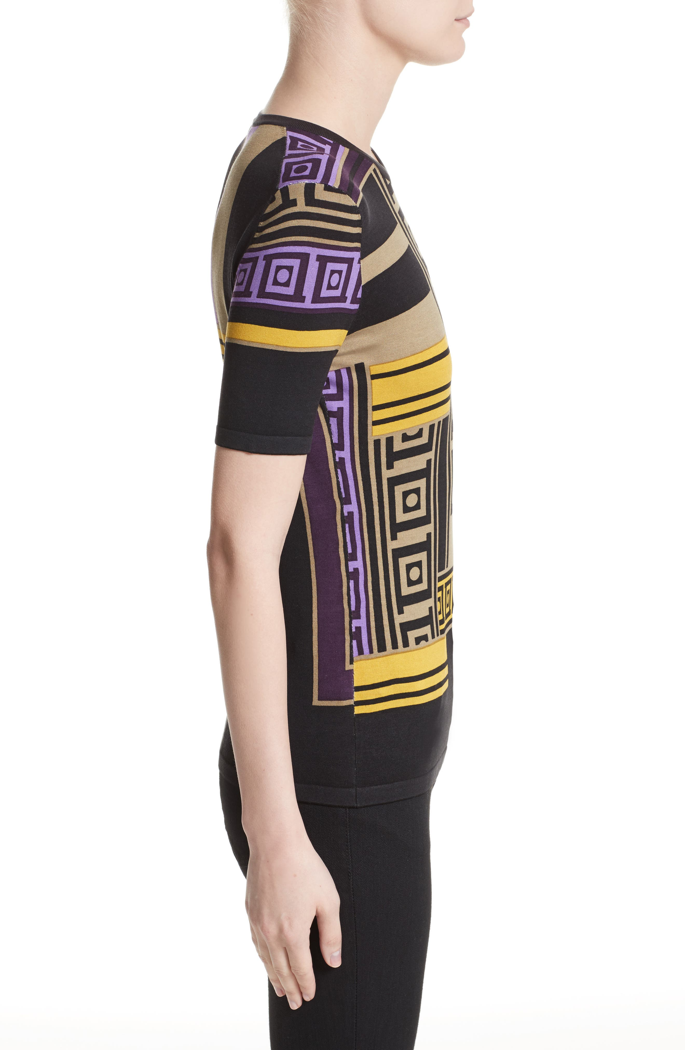Alternate Image 5  - Versace Collection Tetris Knit Top