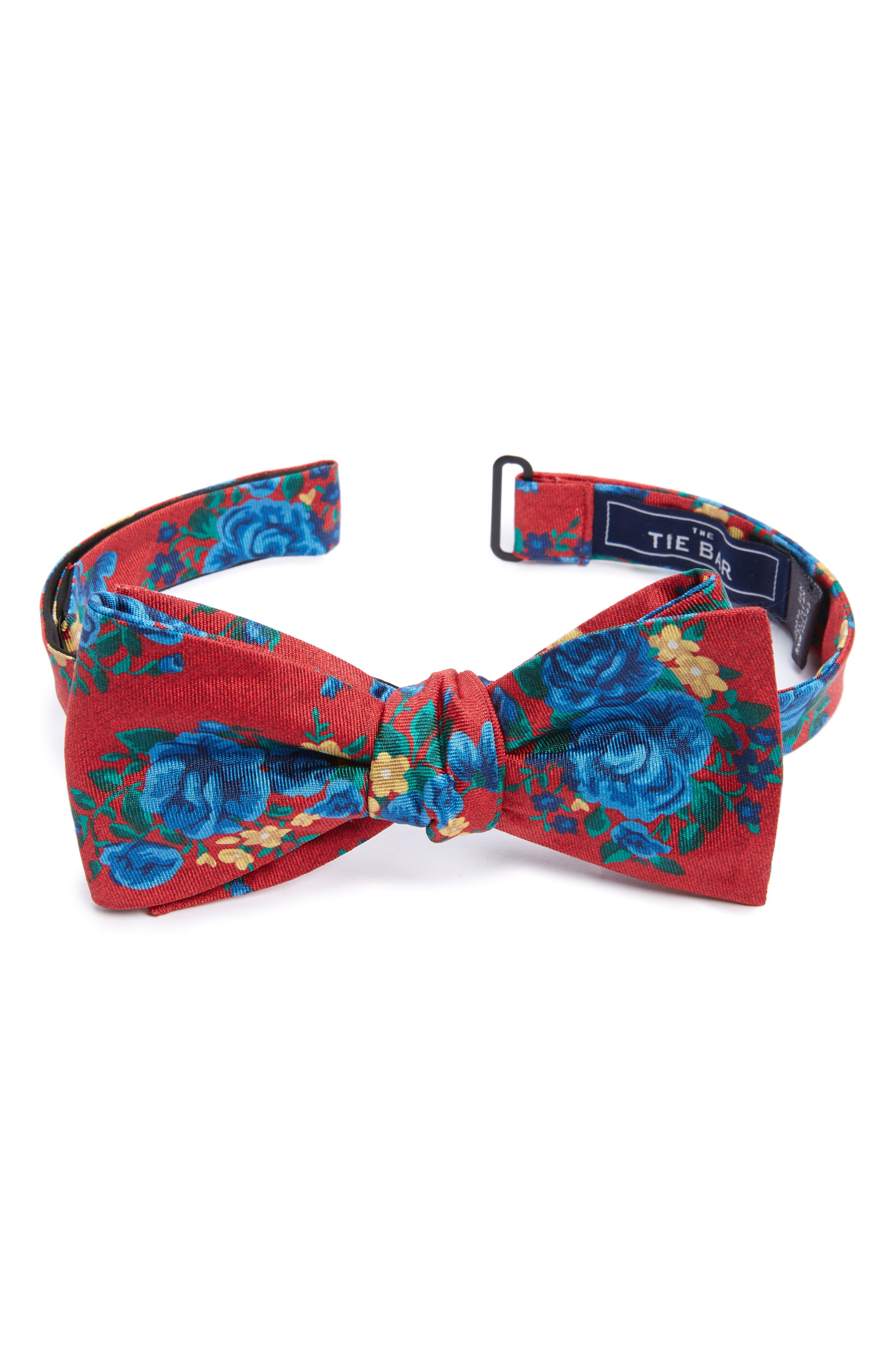 THE TIE BAR Hinterland Floral Silk Bow Tie