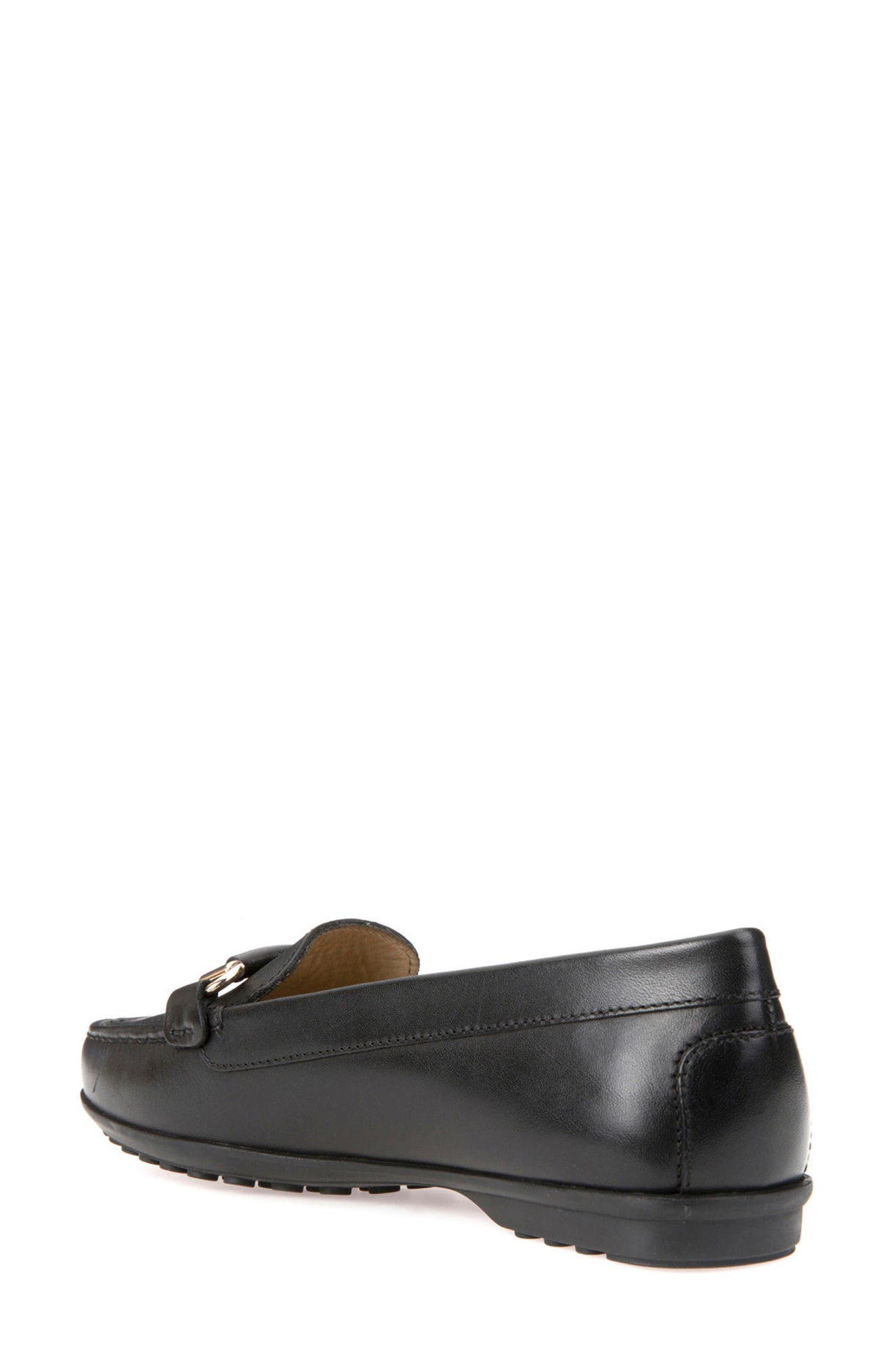 Elidia Buckle Loafer,                             Alternate thumbnail 2, color,                             Black Leather