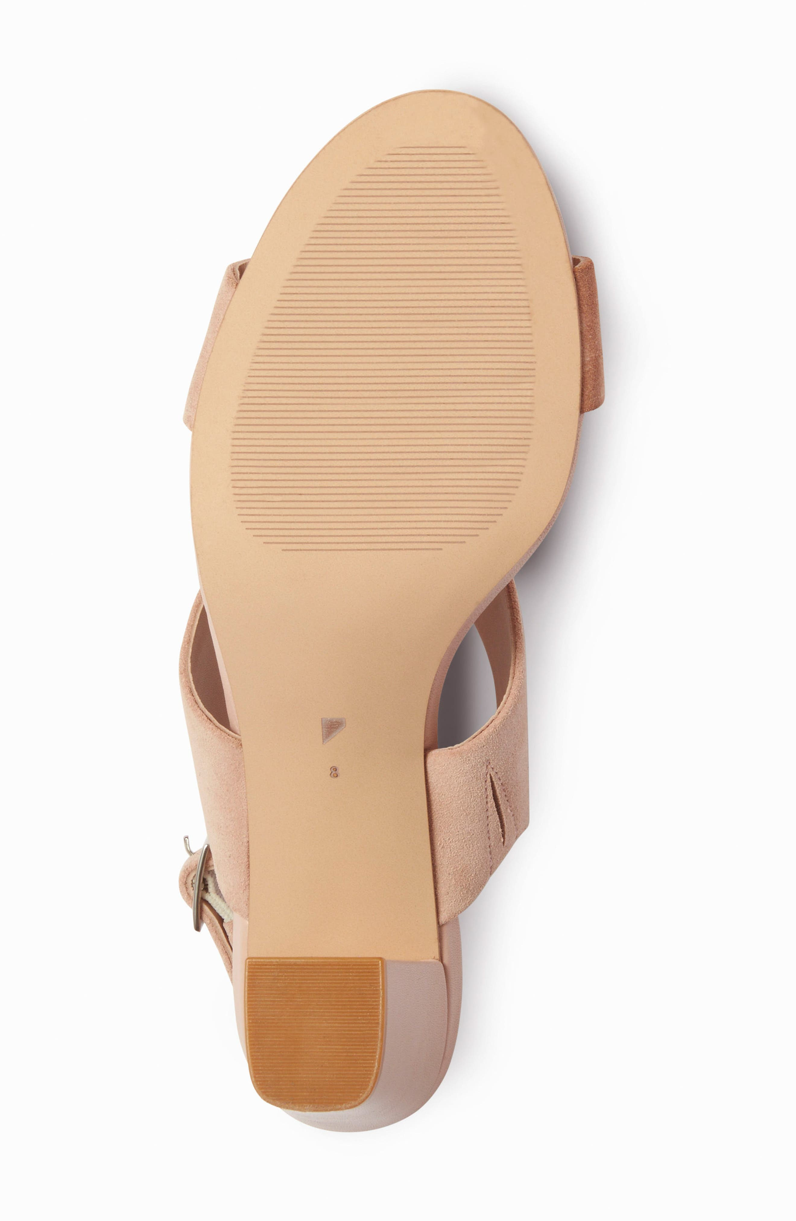 Strappy Sandal,                             Alternate thumbnail 5, color,                             Blush Nude Suede