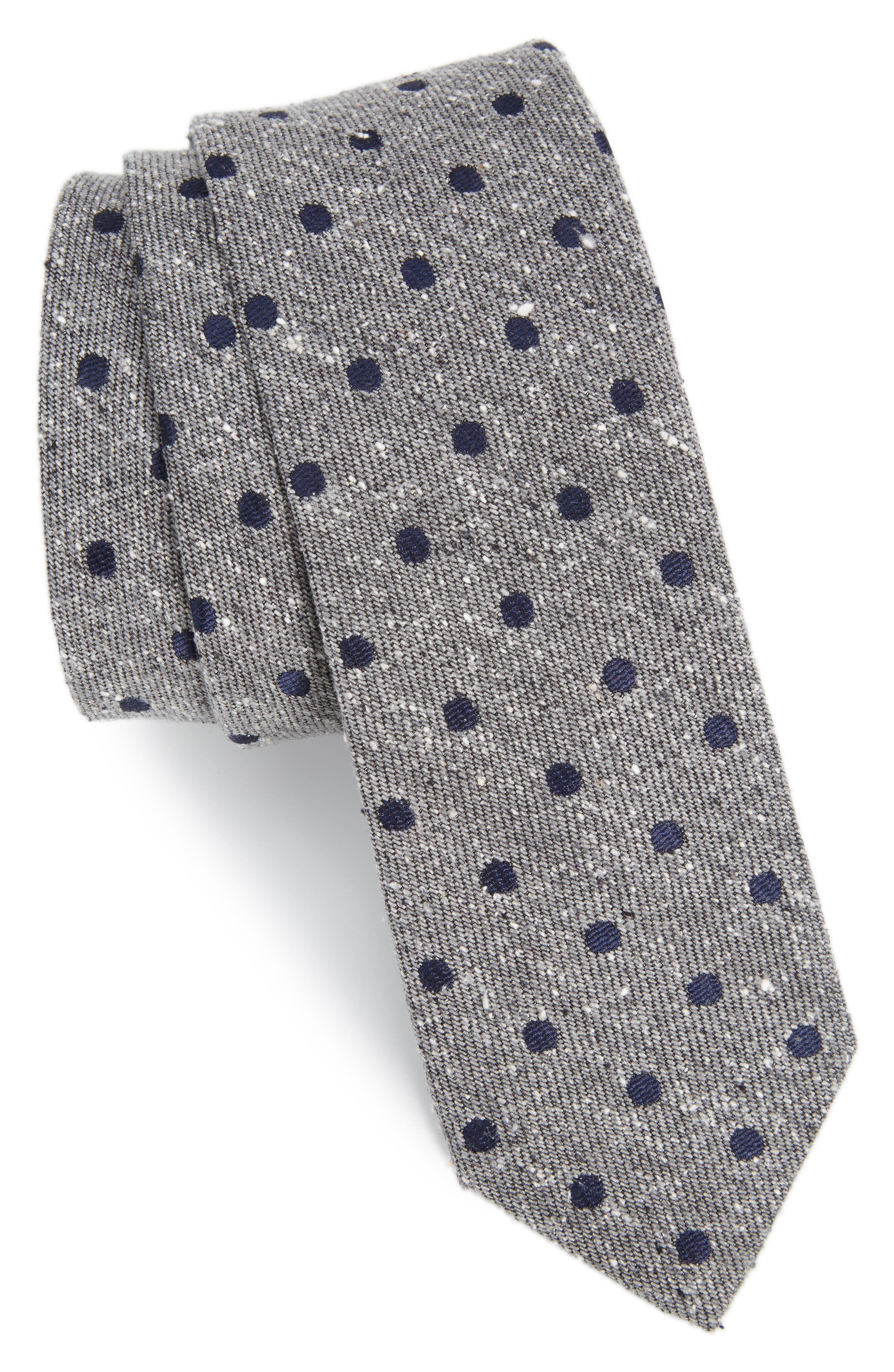 THE TIE BAR Revolve Dots Silk Tie