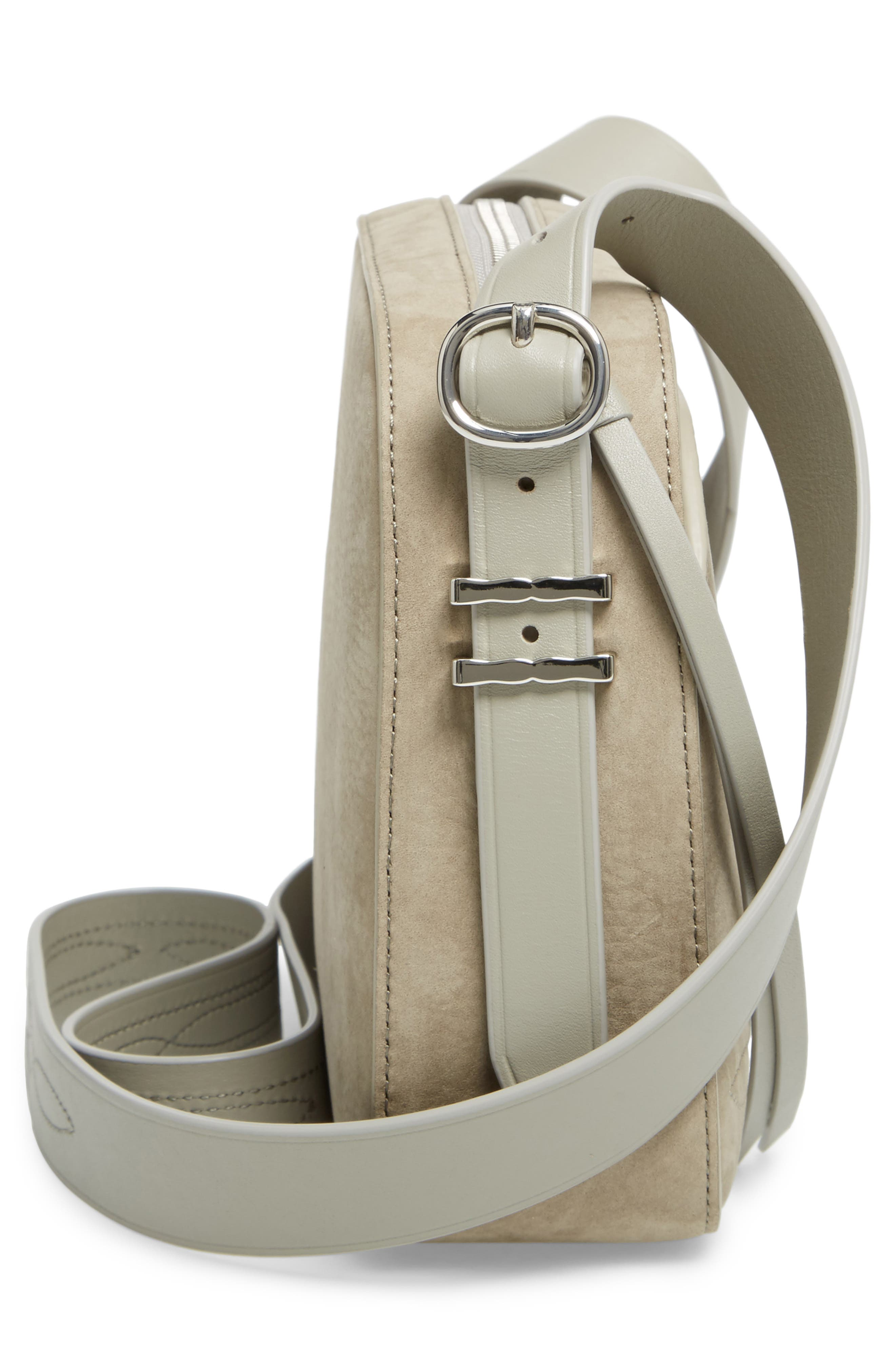 Cooper Nubuck Leather Shoulder Bag,                             Alternate thumbnail 5, color,                             Light Cement Grey