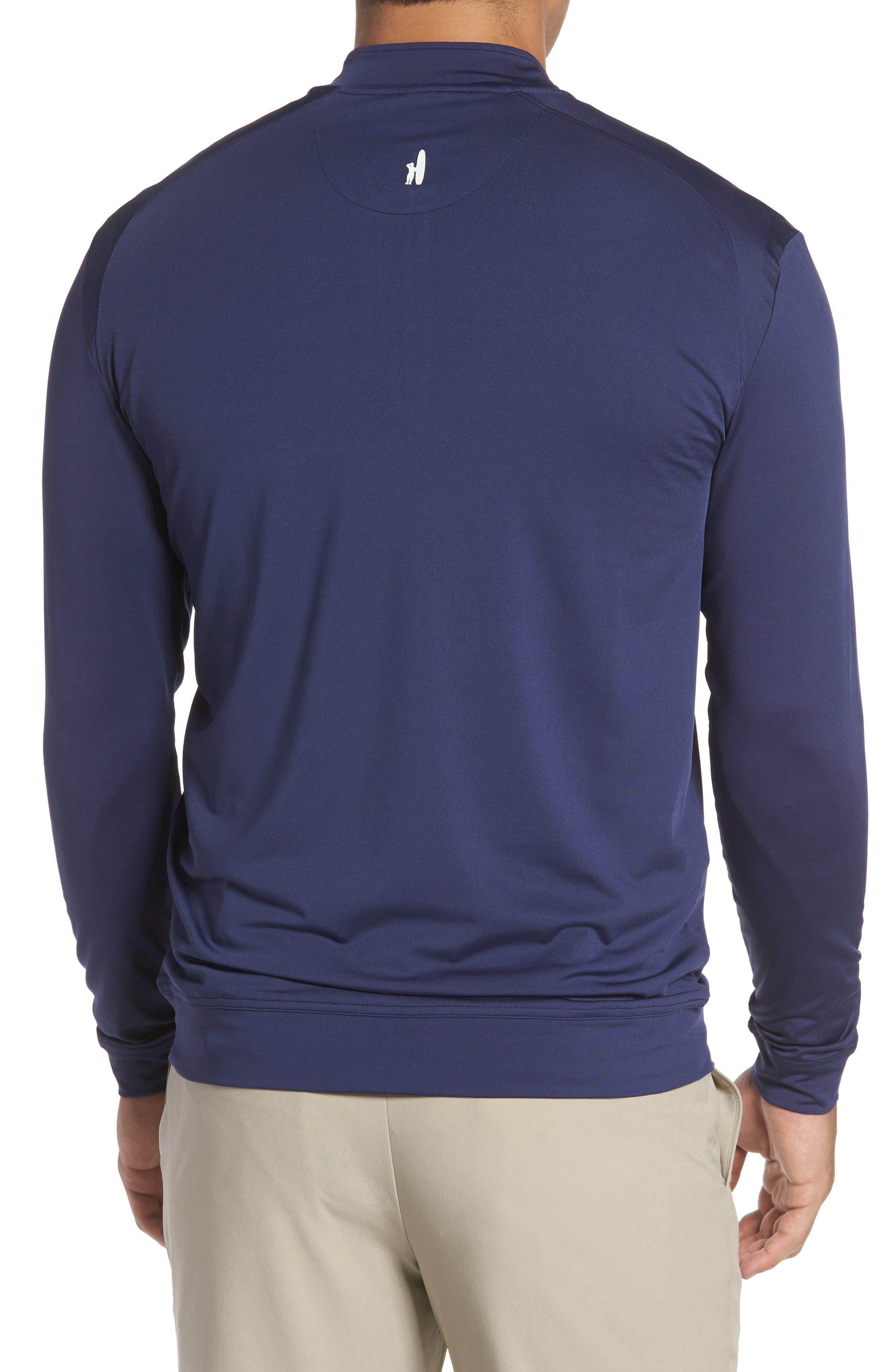 Flex Classic Fit Quarter Zip Pullover,                             Alternate thumbnail 2, color,                             Twilight