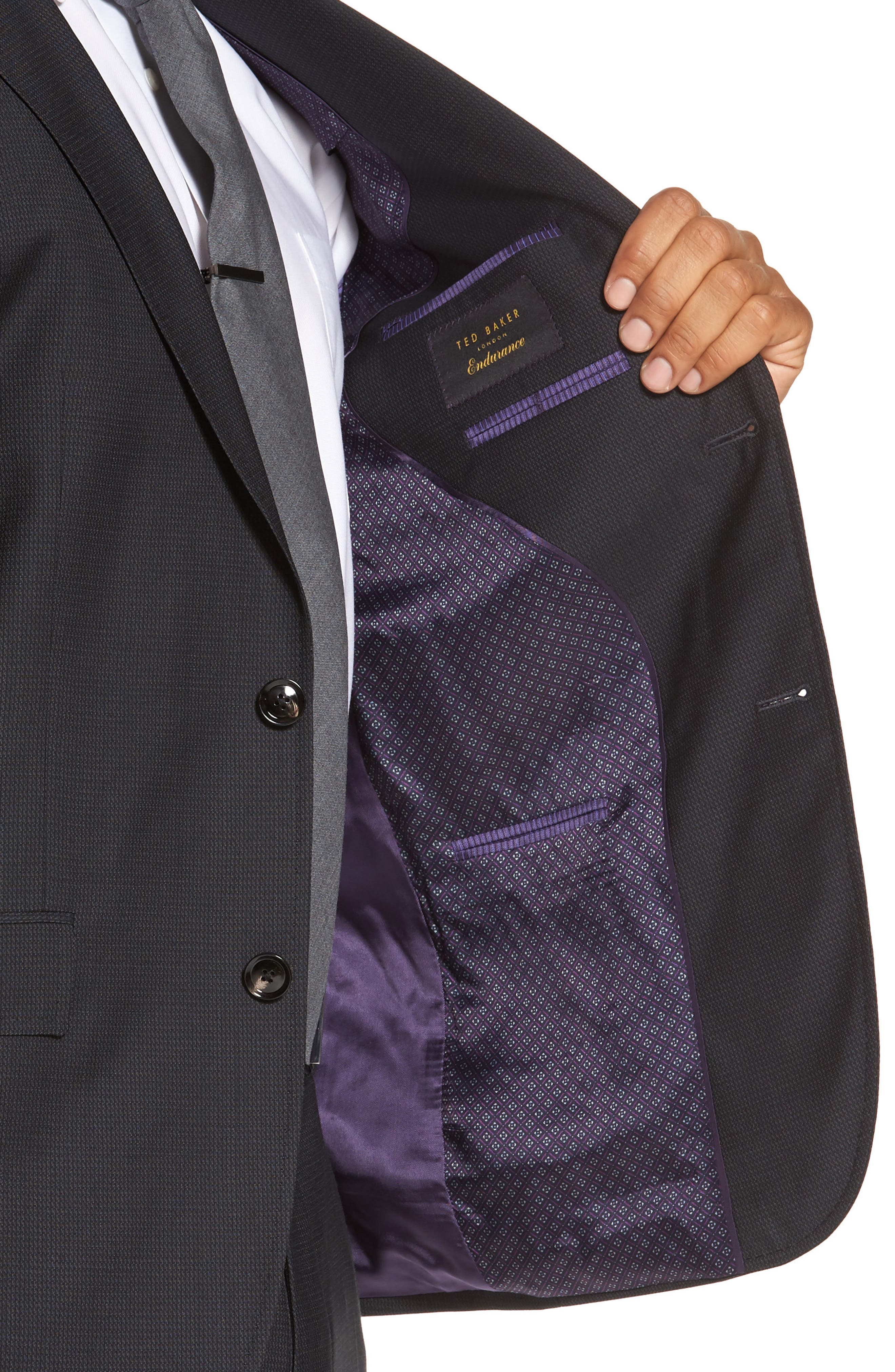 Alternate Image 4  - Ted Baker London Roger Trim Fit Solid Wool Suit