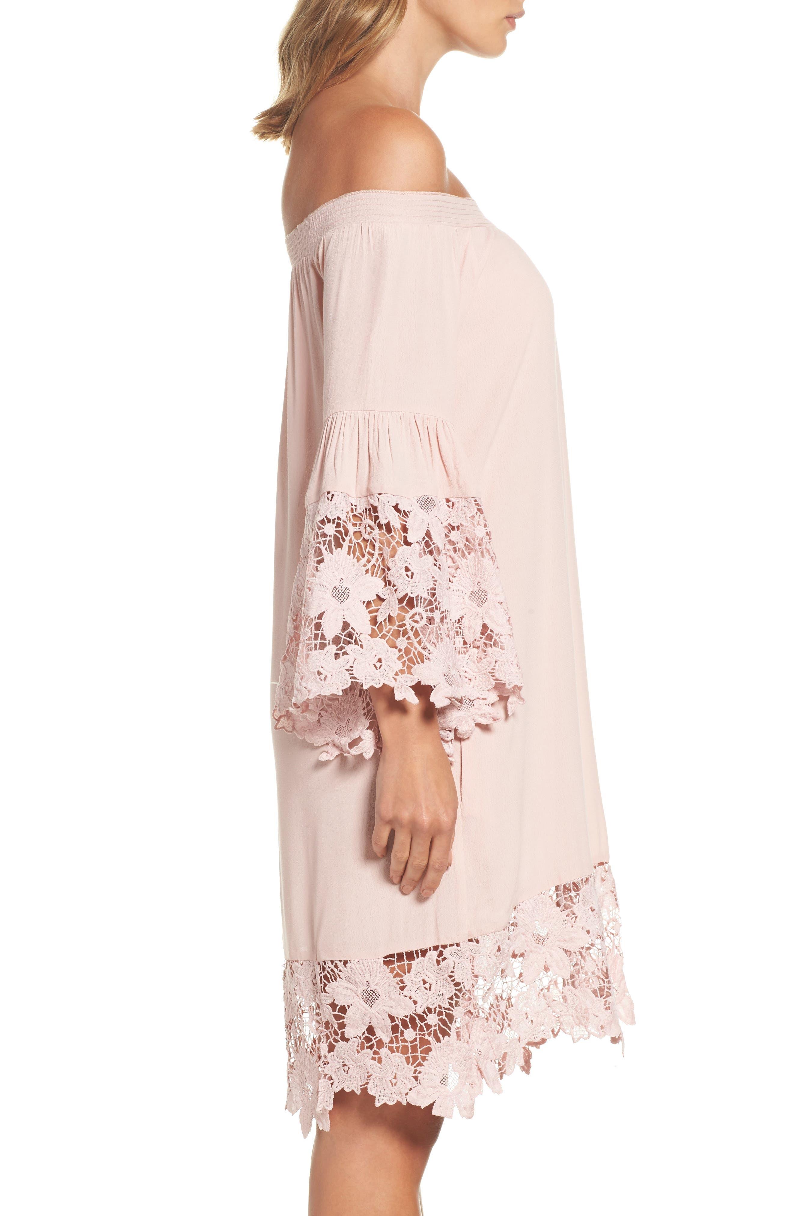 Alternate Image 4  - Muche et Muchette Jolie Lace Accent Cover-Up Dress