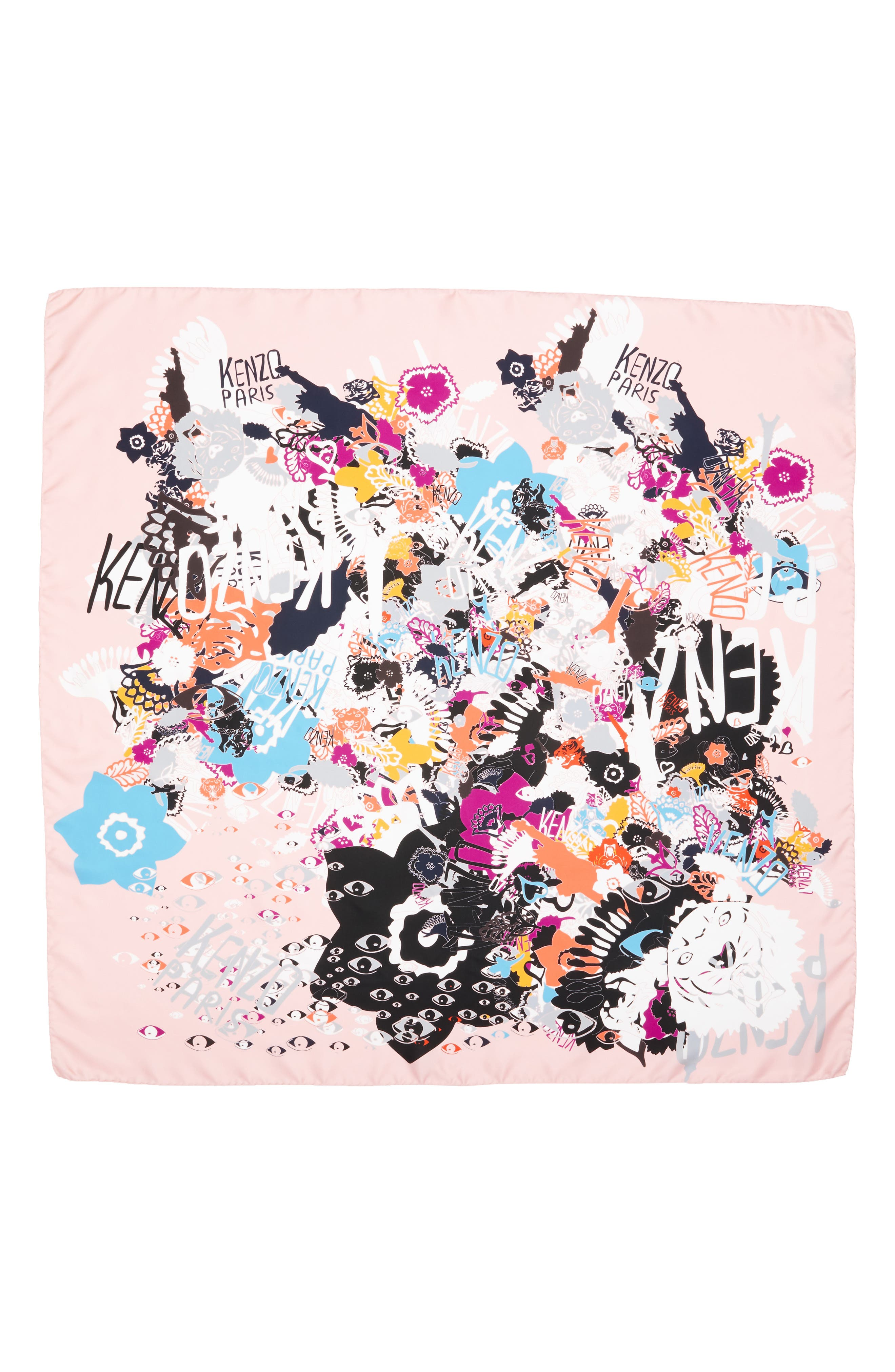 KENZO Graphic Silk Scarf