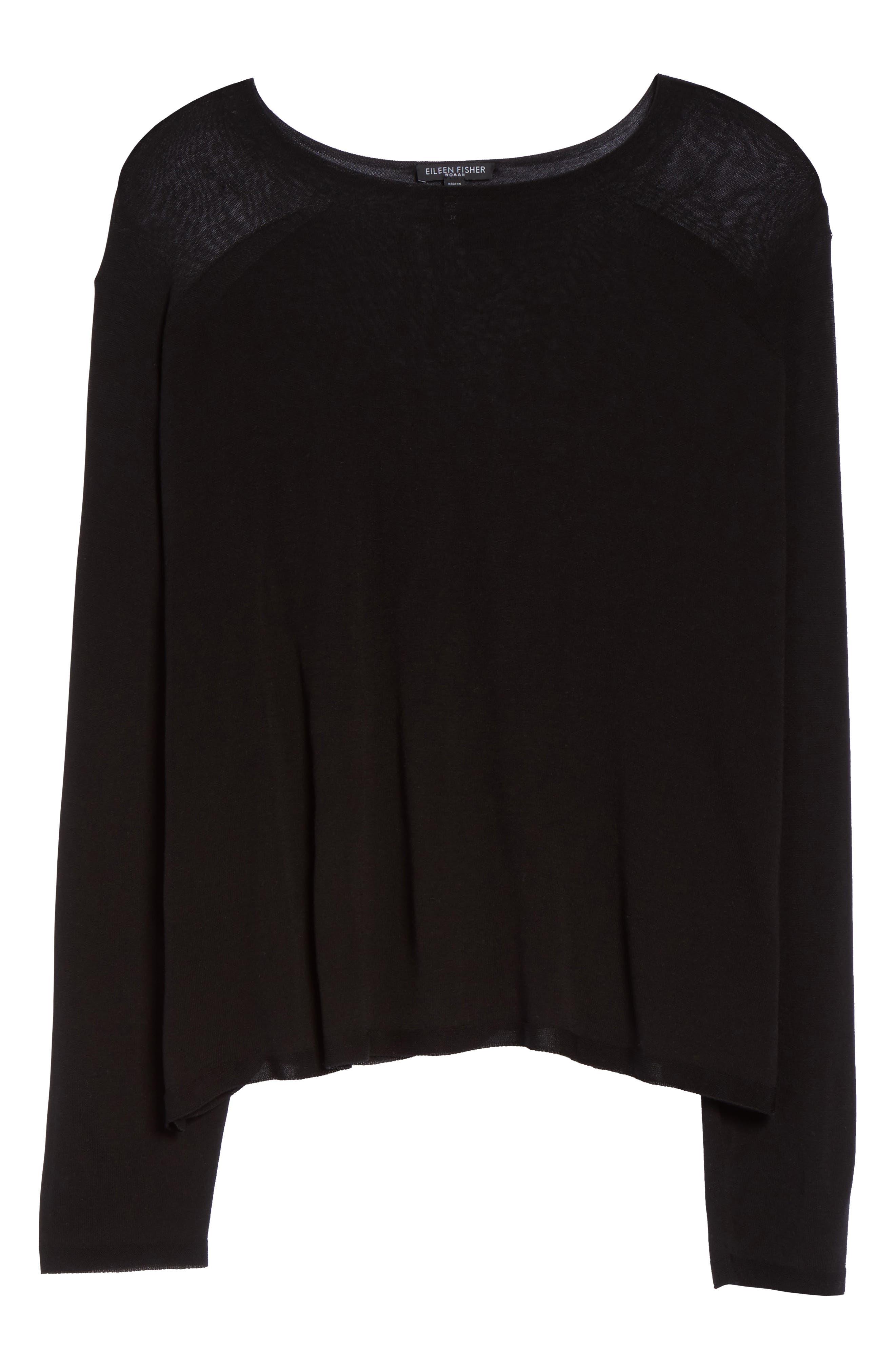 Alternate Image 6  - Eileen Fisher Tencel® Knit Top (Plus Size)