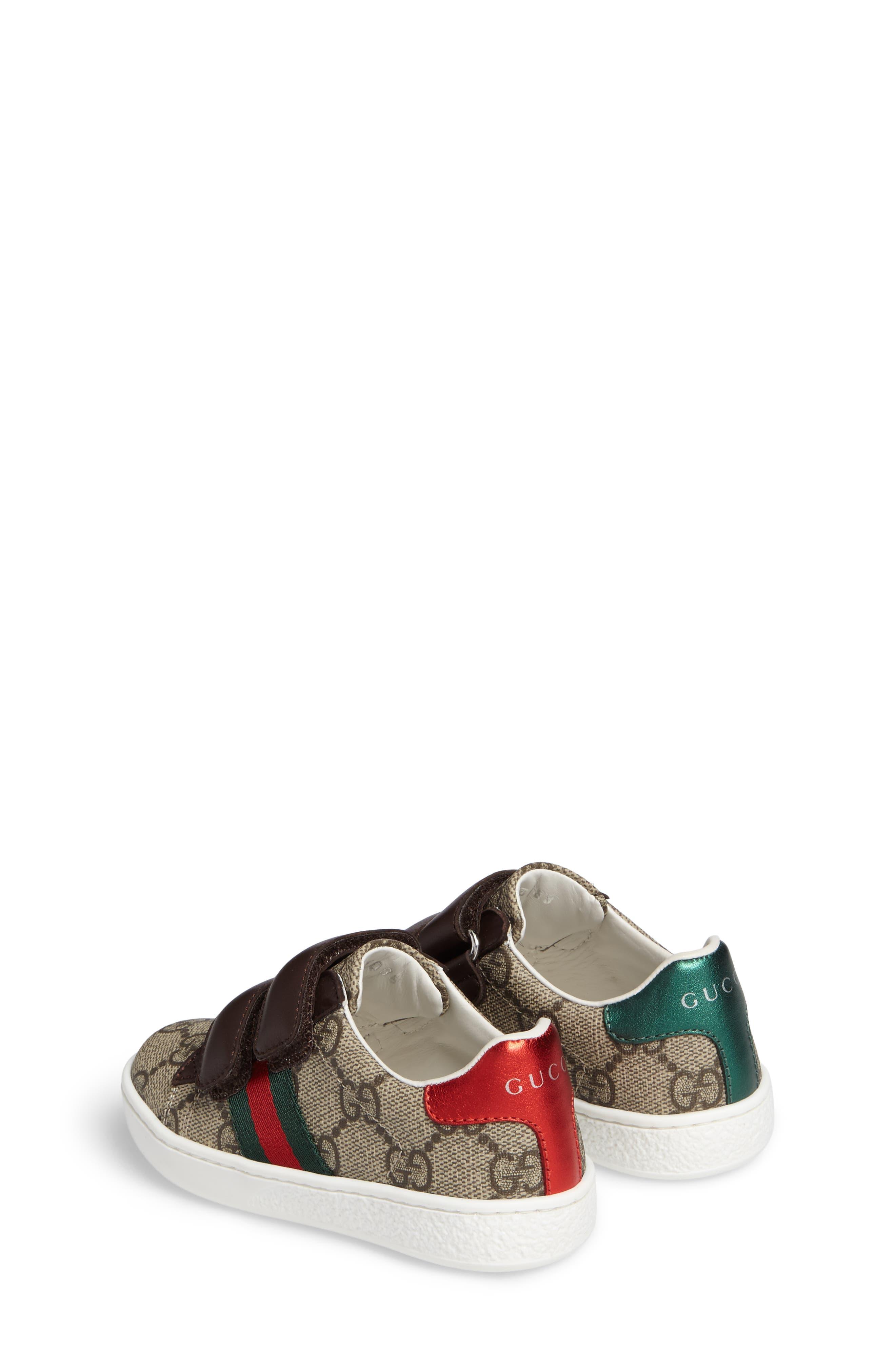 Alternate Image 3  - Gucci New Ace Monogram Sneaker (Baby, Walker, Toddler, Little Kid & Big Kid)