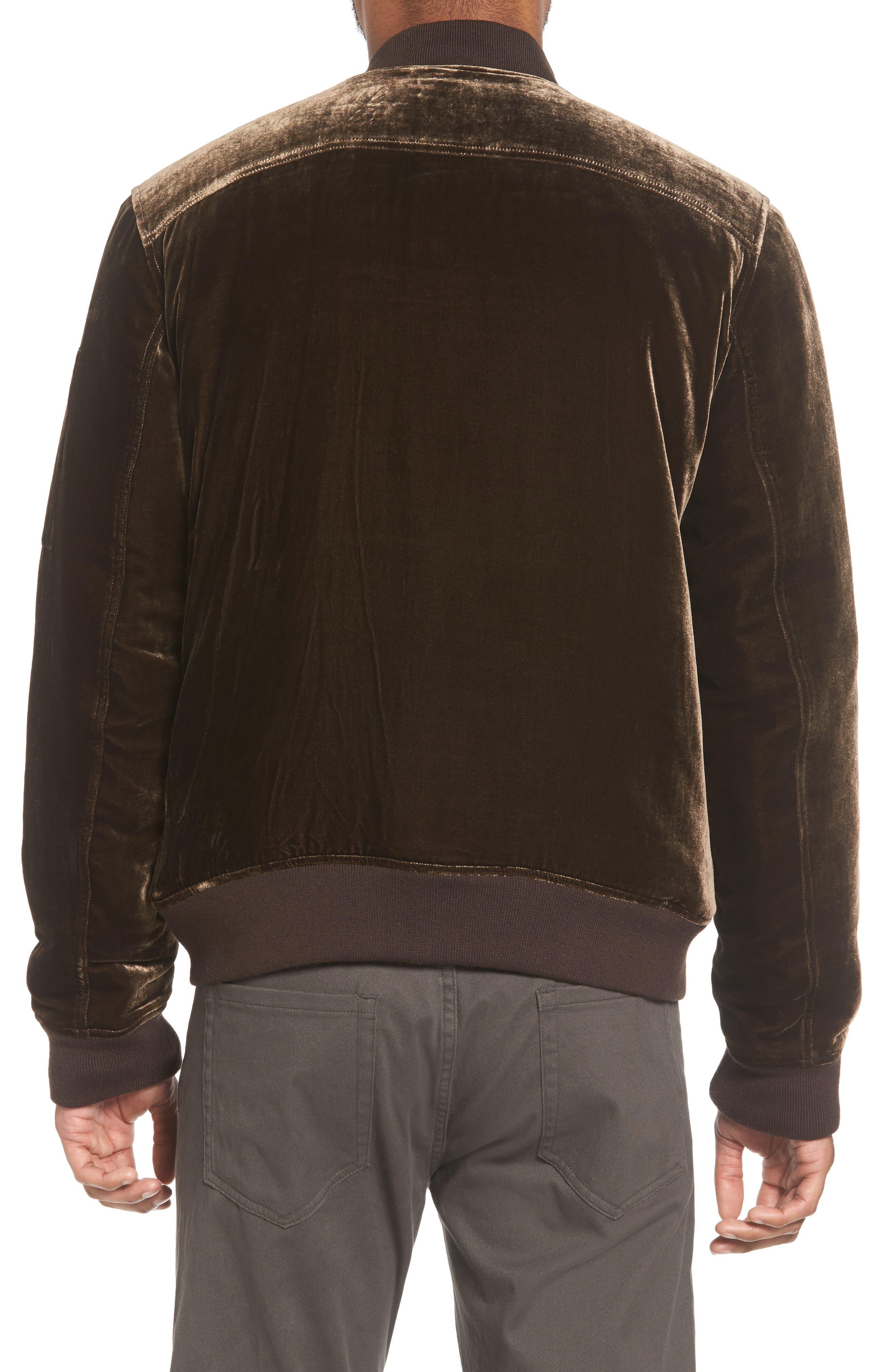 Alternate Image 2  - Vince Velvet Bomber Jacket