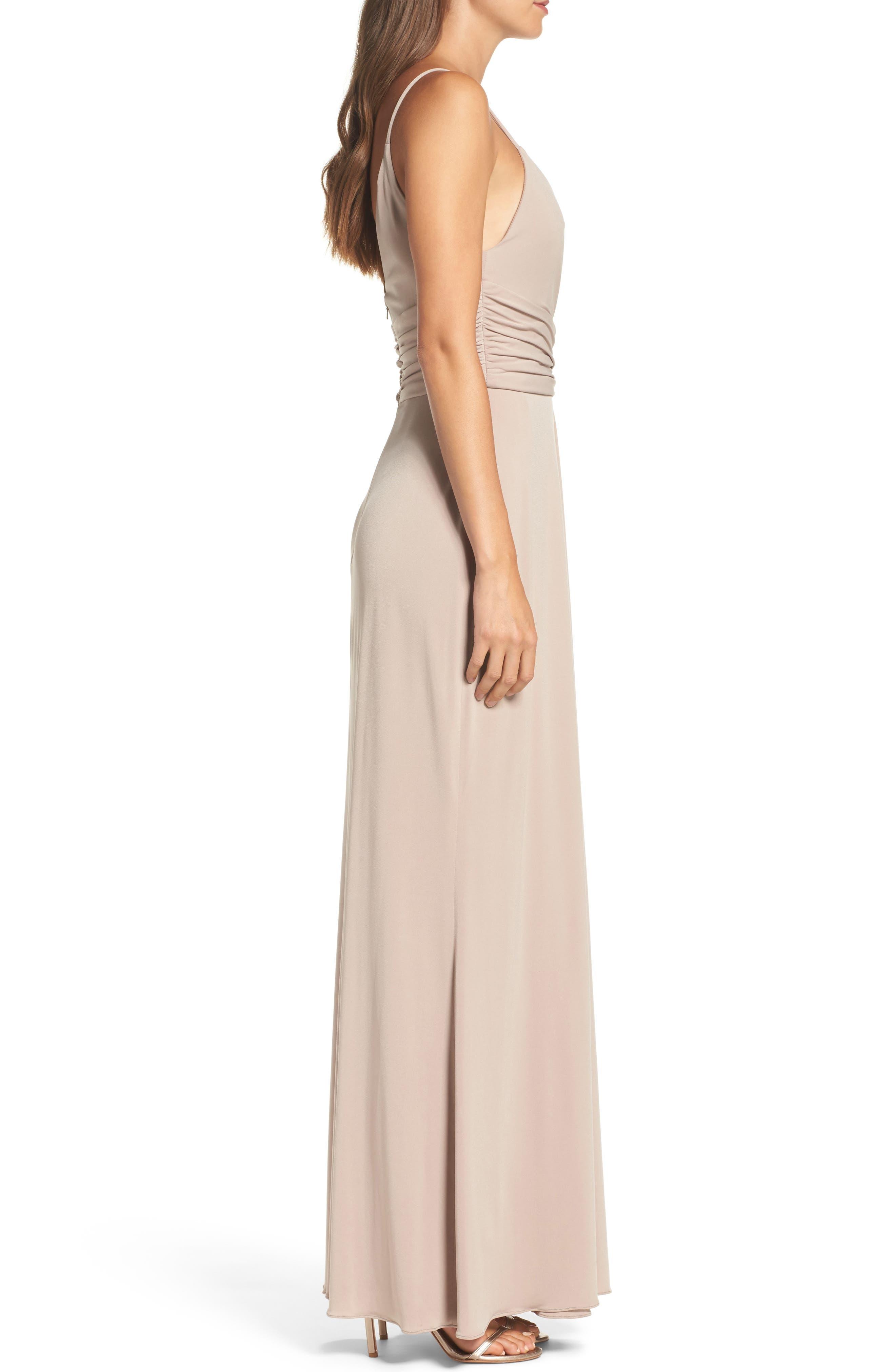 Alternate Image 3  - Amsale Celina Mock Wrap Gown