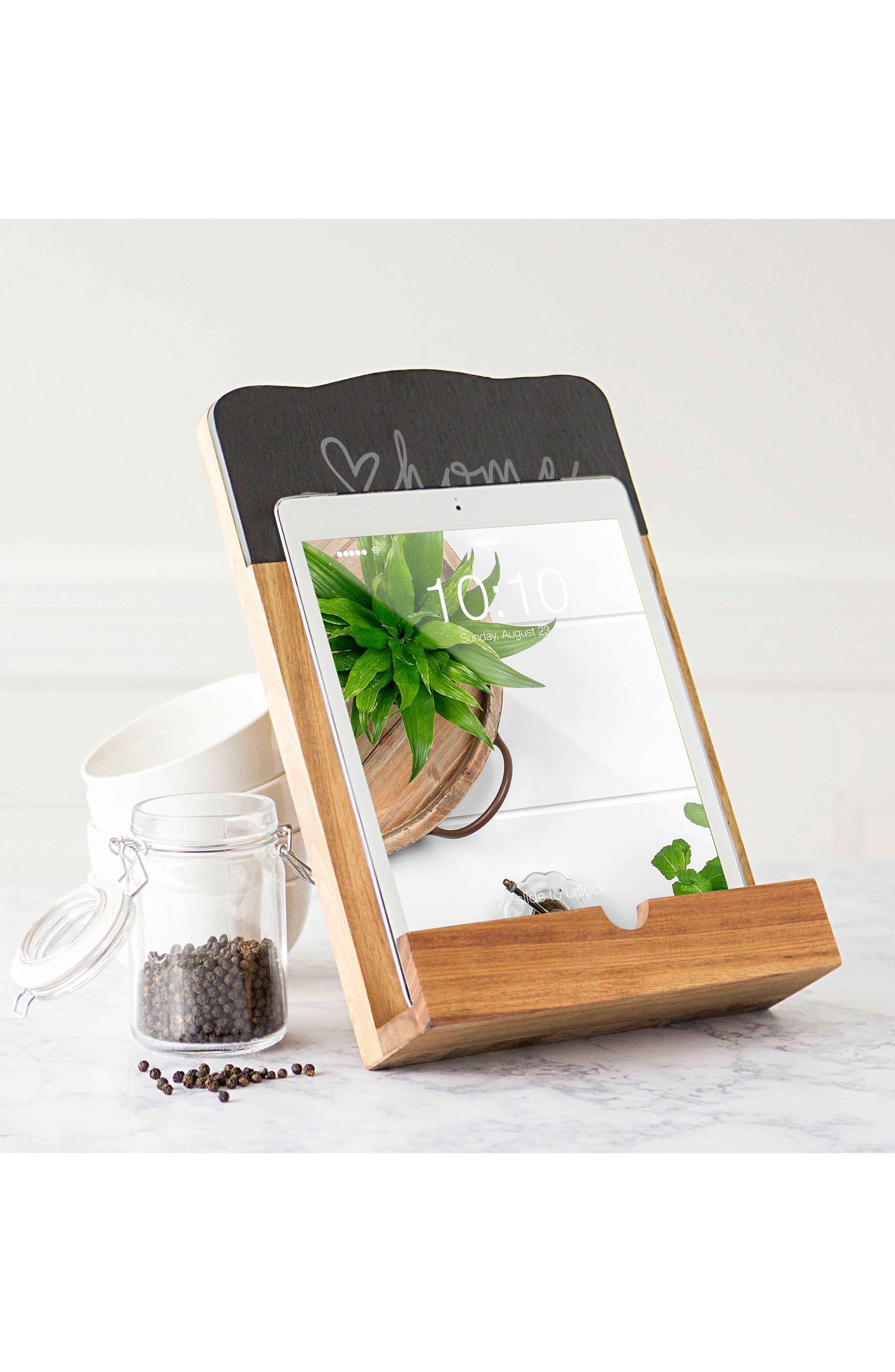 Love Home Tablet Holder,                             Alternate thumbnail 5, color,                             Brown