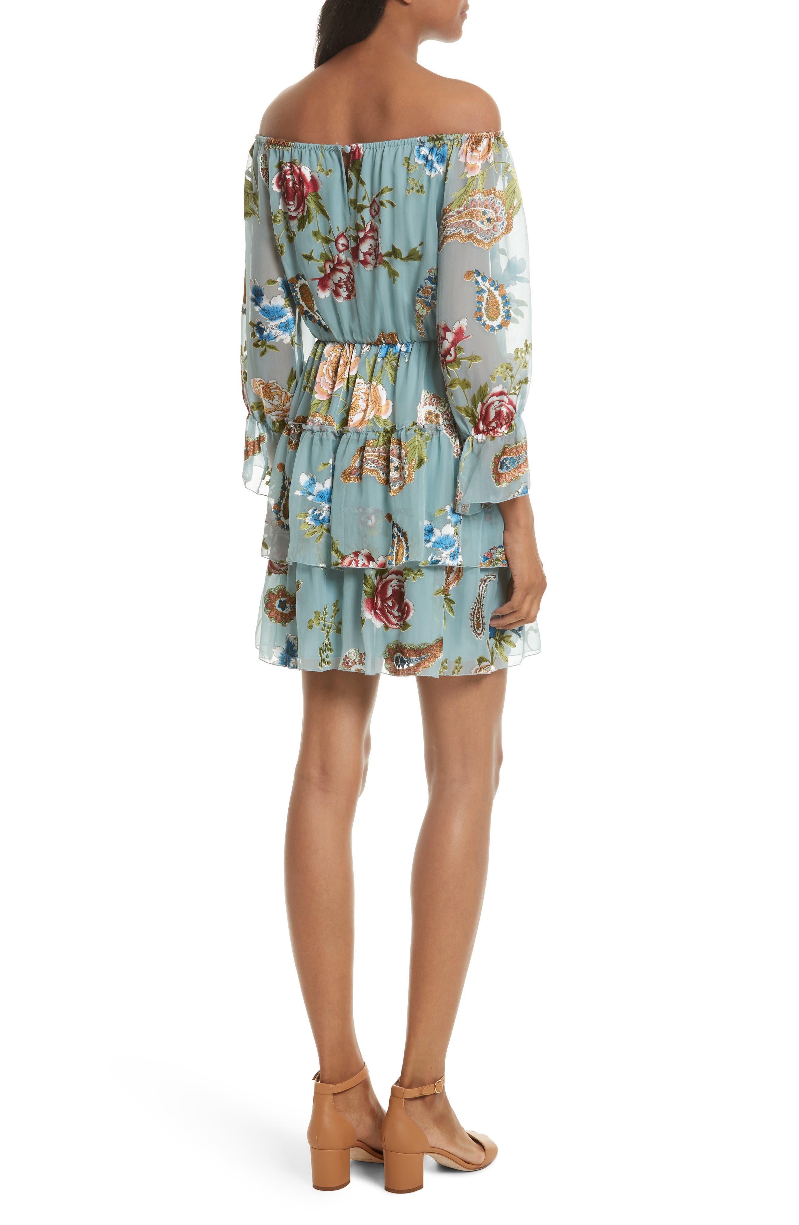Alternate Image 3  - Alice + Olivia Waylon Off the Shoulder Blouson Dress