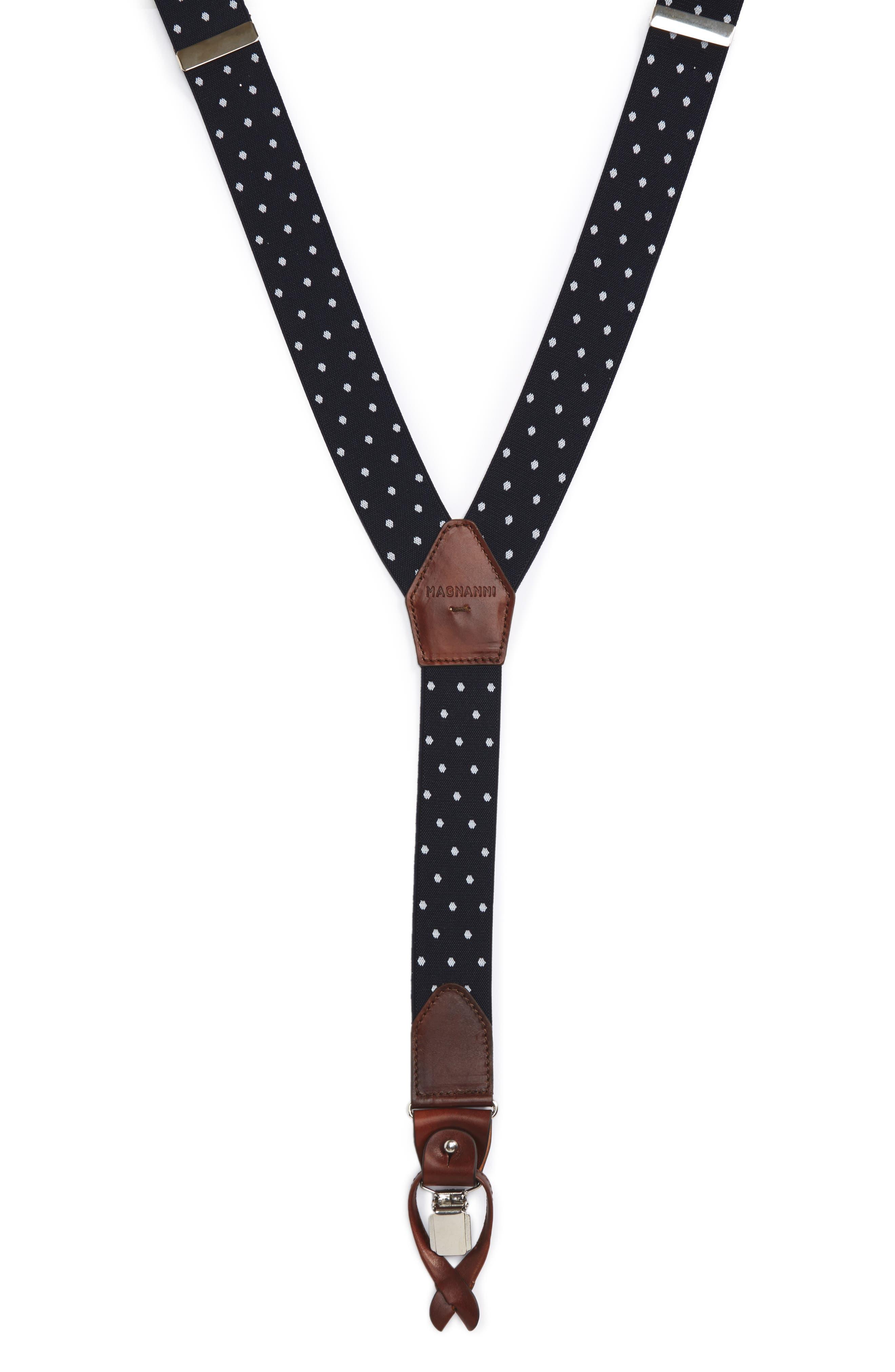 Dot Suspenders,                             Main thumbnail 1, color,                             Navy / White
