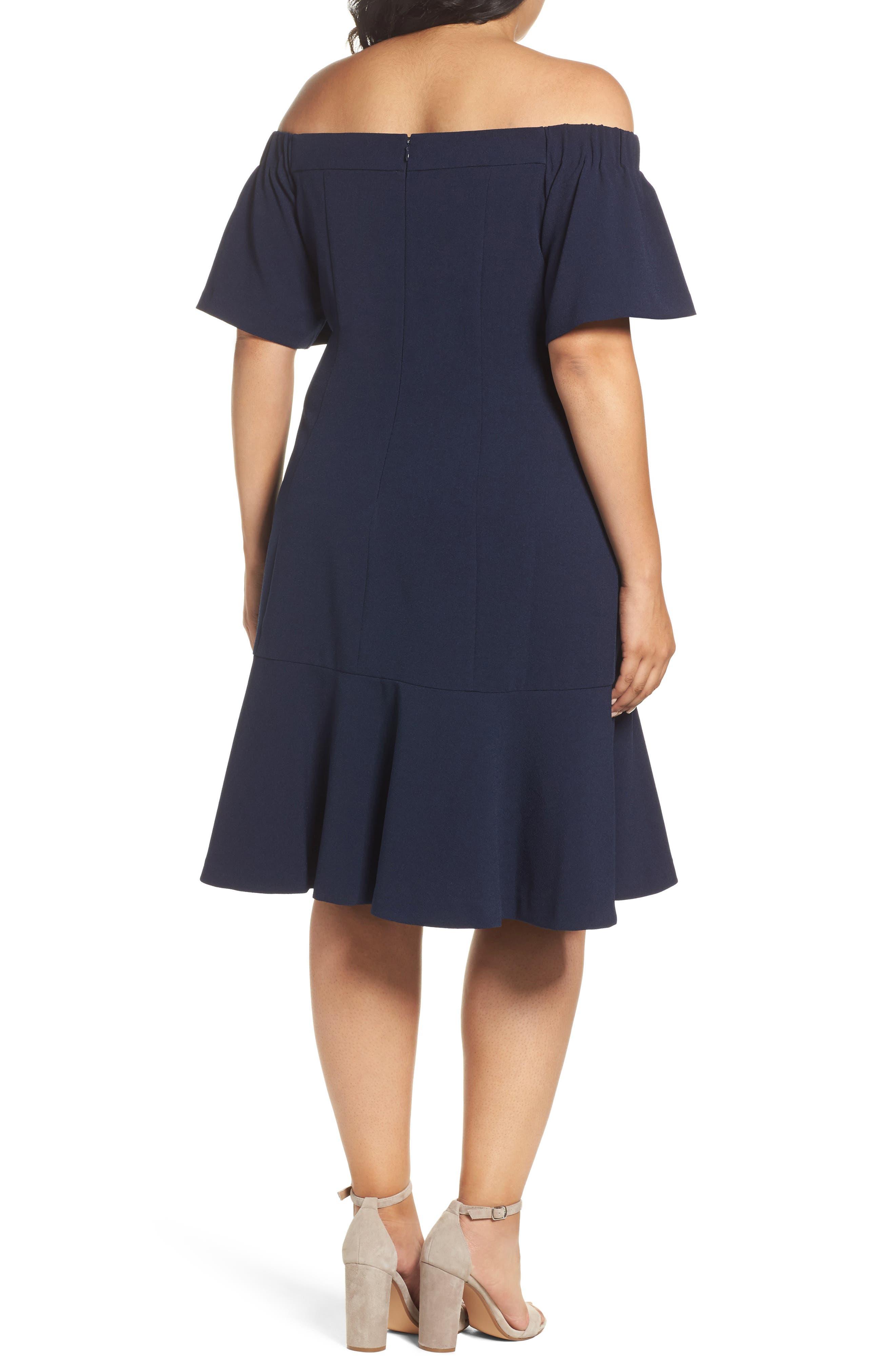 Alternate Image 2  - Vince Camuto Crepe Off the Shoulder Dress (Plus Size)