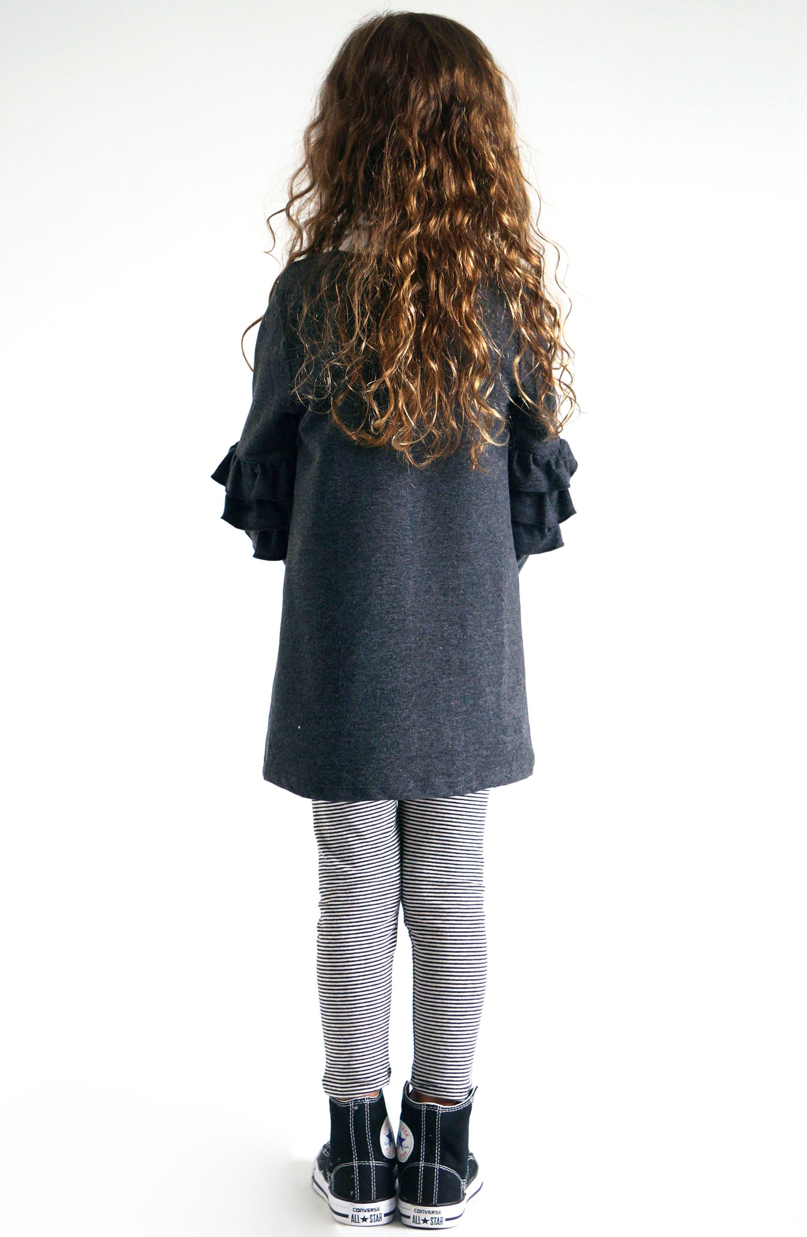 Alternate Image 4  - Truly Me Ruffle Sleeve Sweatshirt (Toddler Girls & Little Girls)