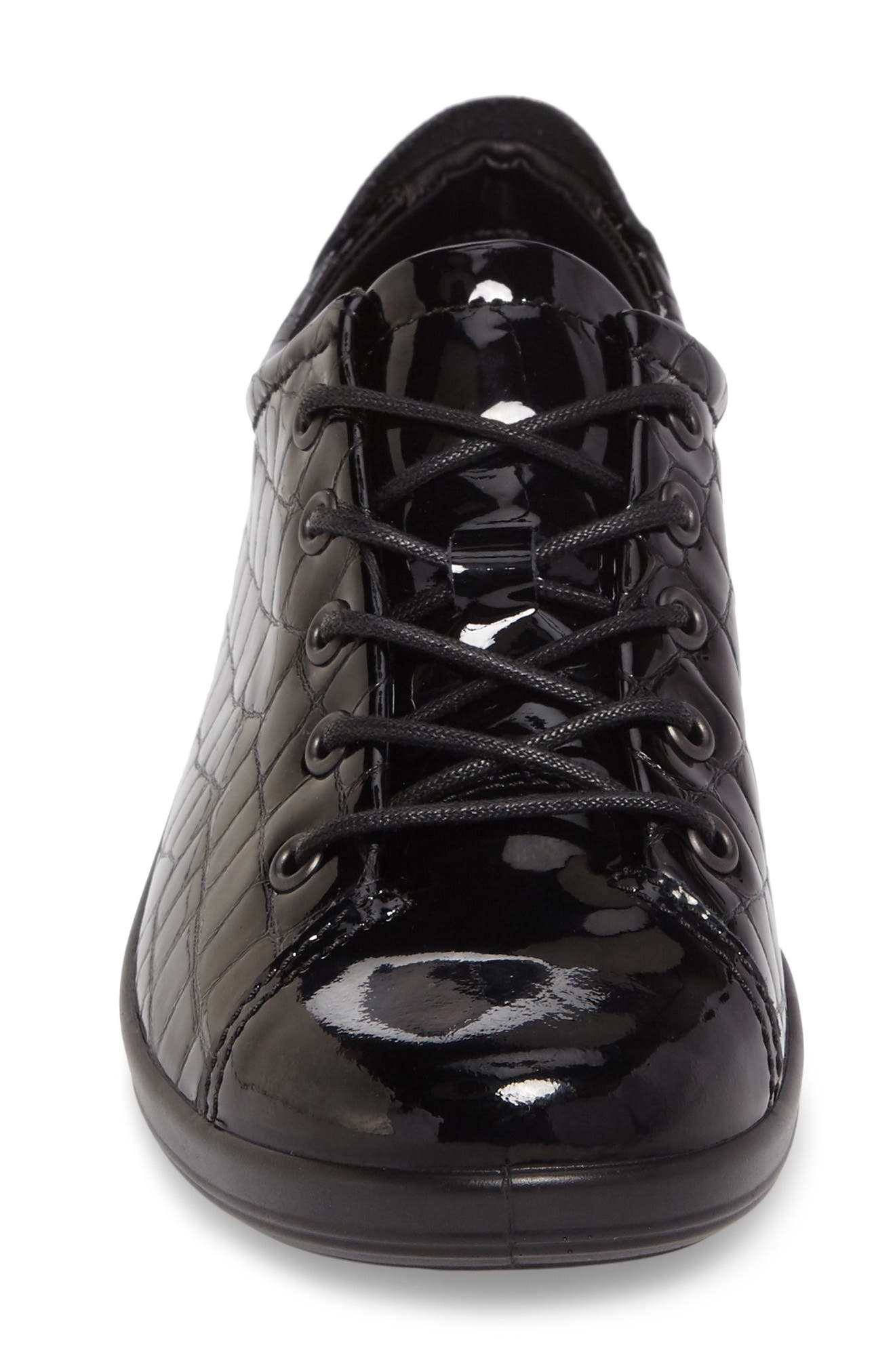'Soft 2.0' Sneaker,                             Alternate thumbnail 4, color,                             Black Patent Leather