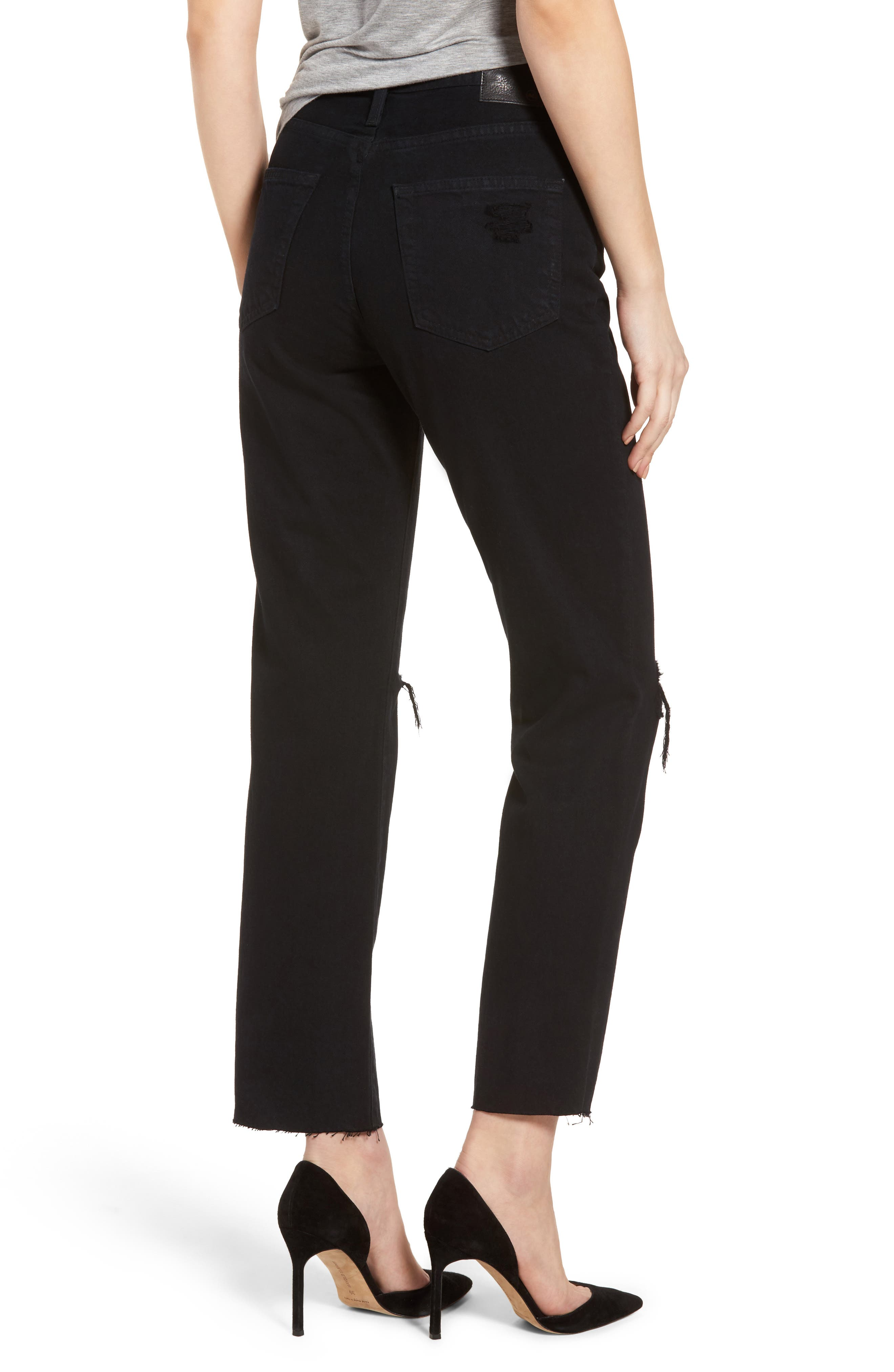 Phoebe High Rise Straight Leg Jeans,                             Alternate thumbnail 2, color,                             Rebellion