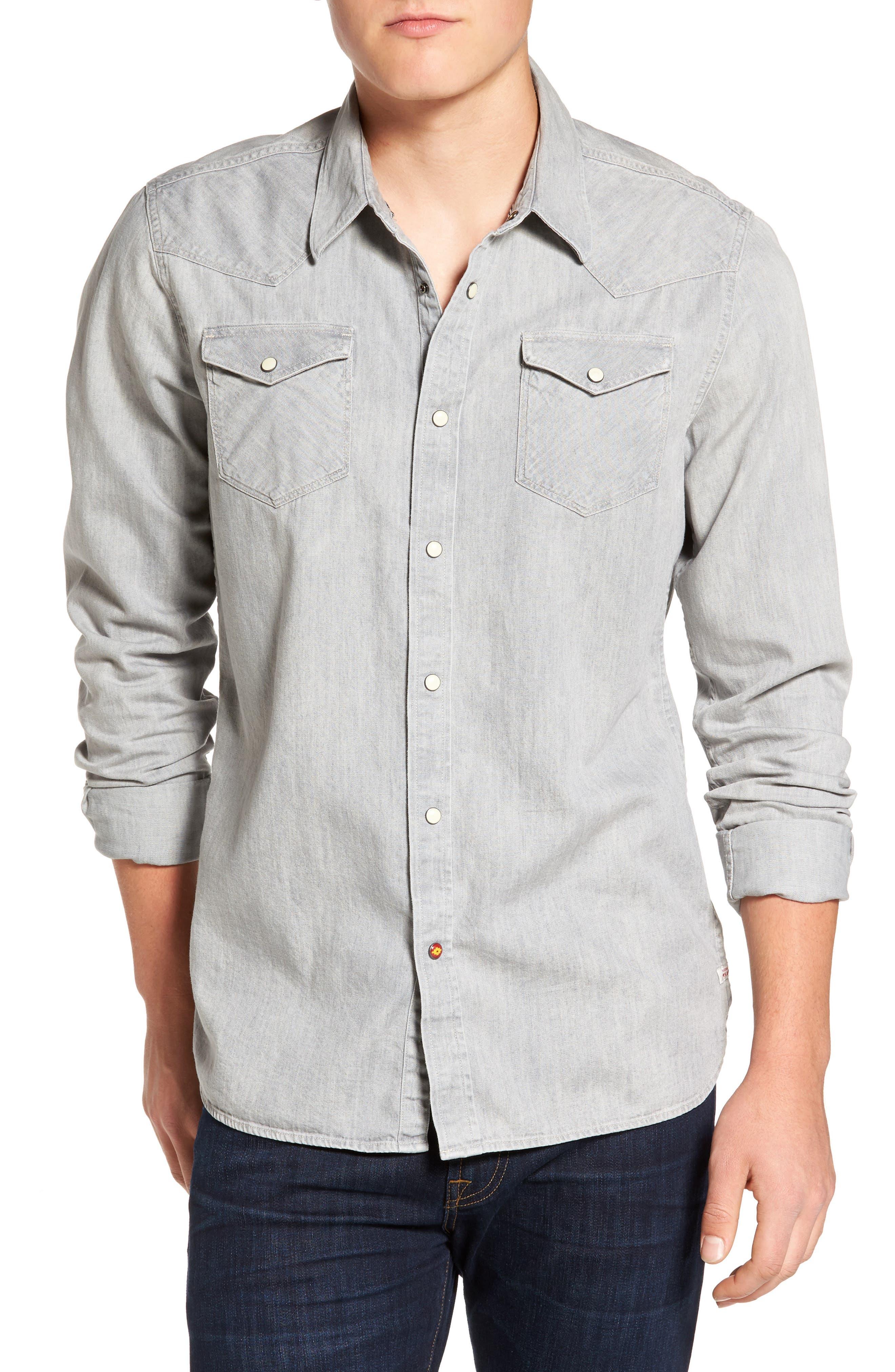Alternate Image 1 Selected - Scotch & Soda Western Shirt