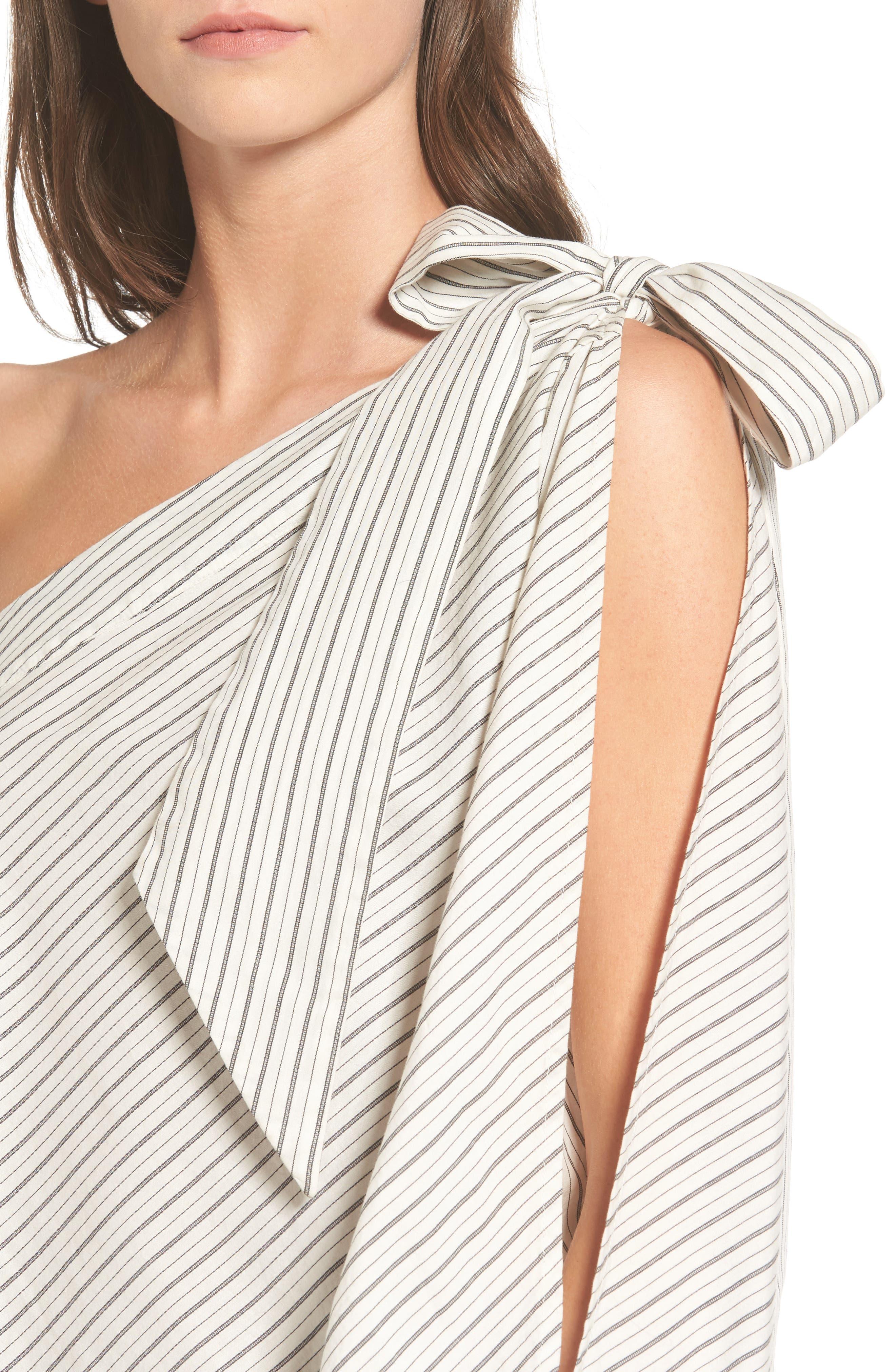 Alternate Image 4  - BP. Split Sleeve One-Shoulder Top