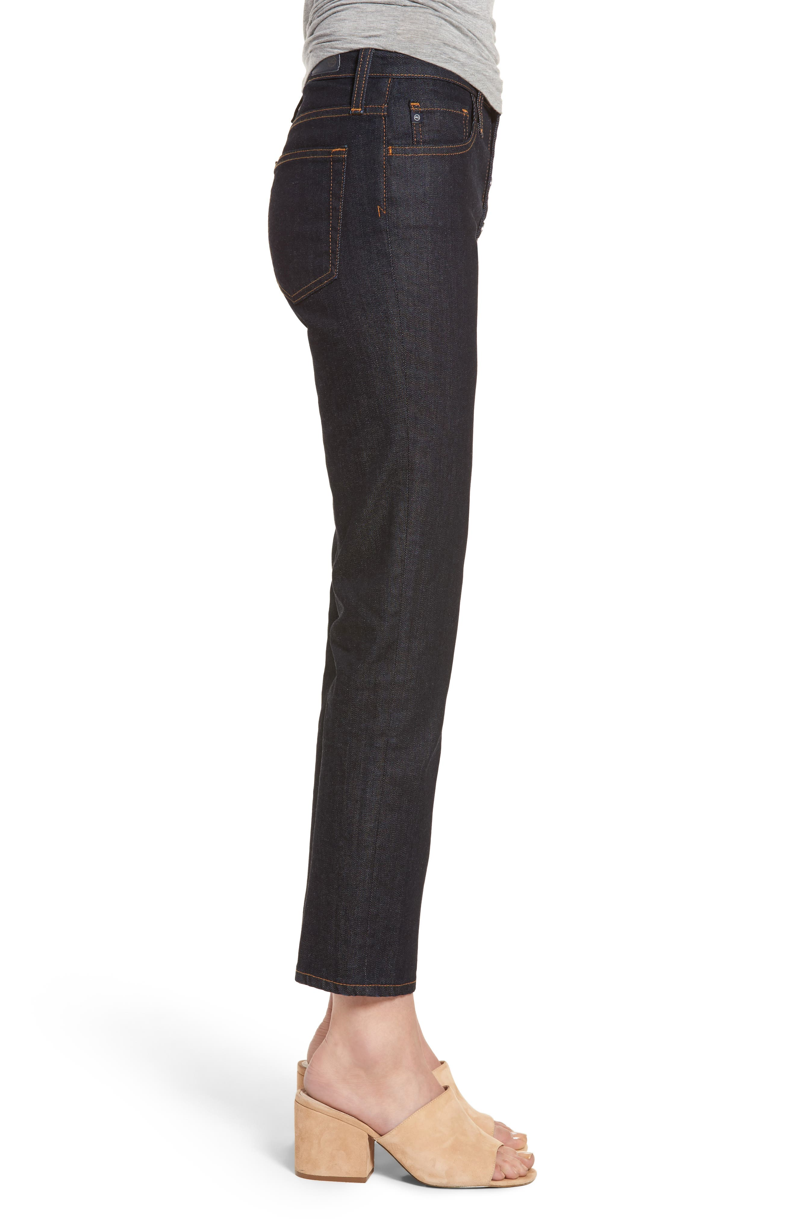 Alternate Image 3  - AG Isabelle High Waist Ankle Jeans (Indigo Autumn)