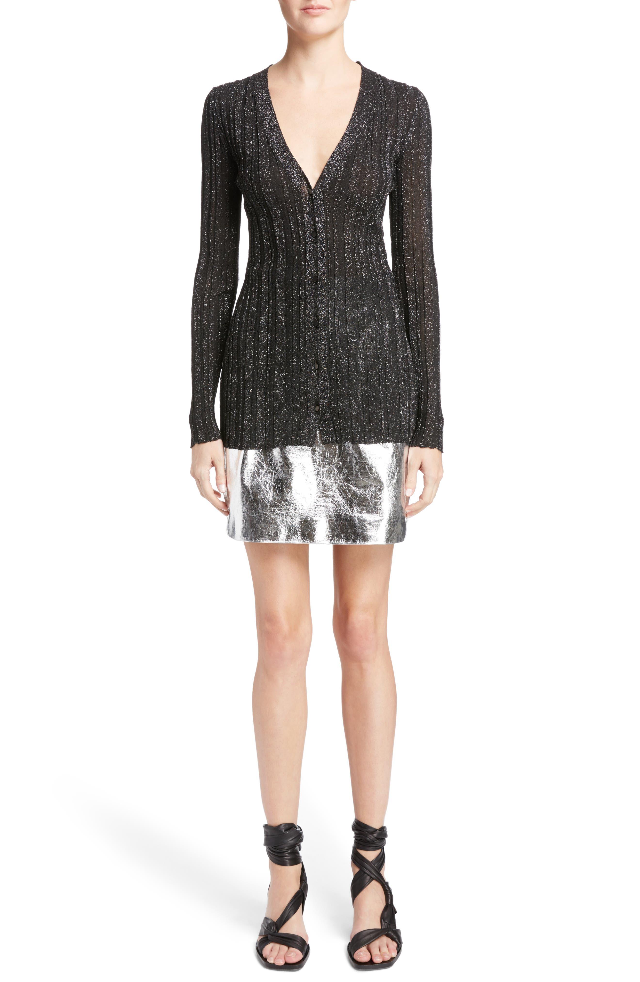 Alternate Image 6  - Proenza Schouler Lurex® Metallic Rib Knit Cardigan
