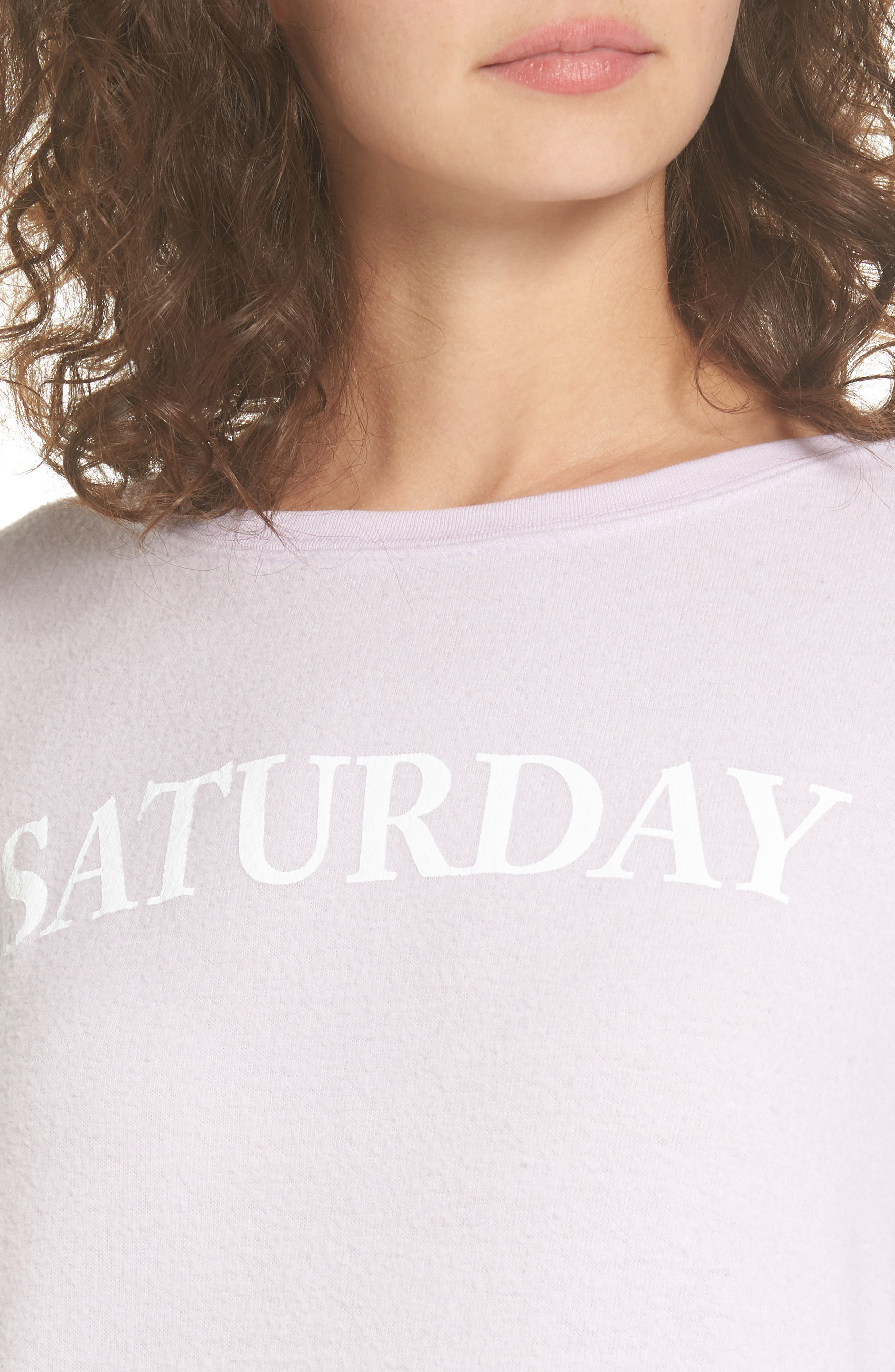 Saturday Sweatshirt,                             Alternate thumbnail 4, color,                             Purple