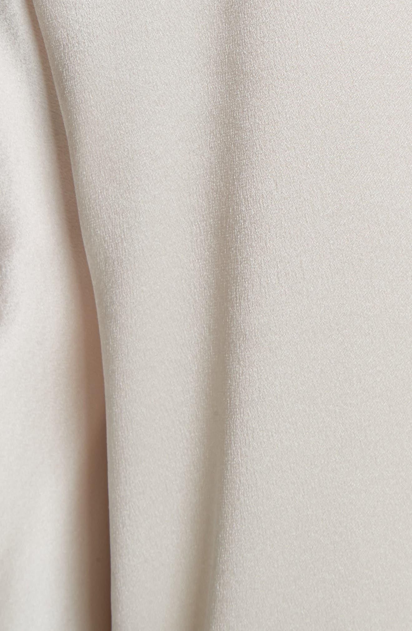 Split Back Silk Blouse,                             Alternate thumbnail 5, color,                             Whip Cream