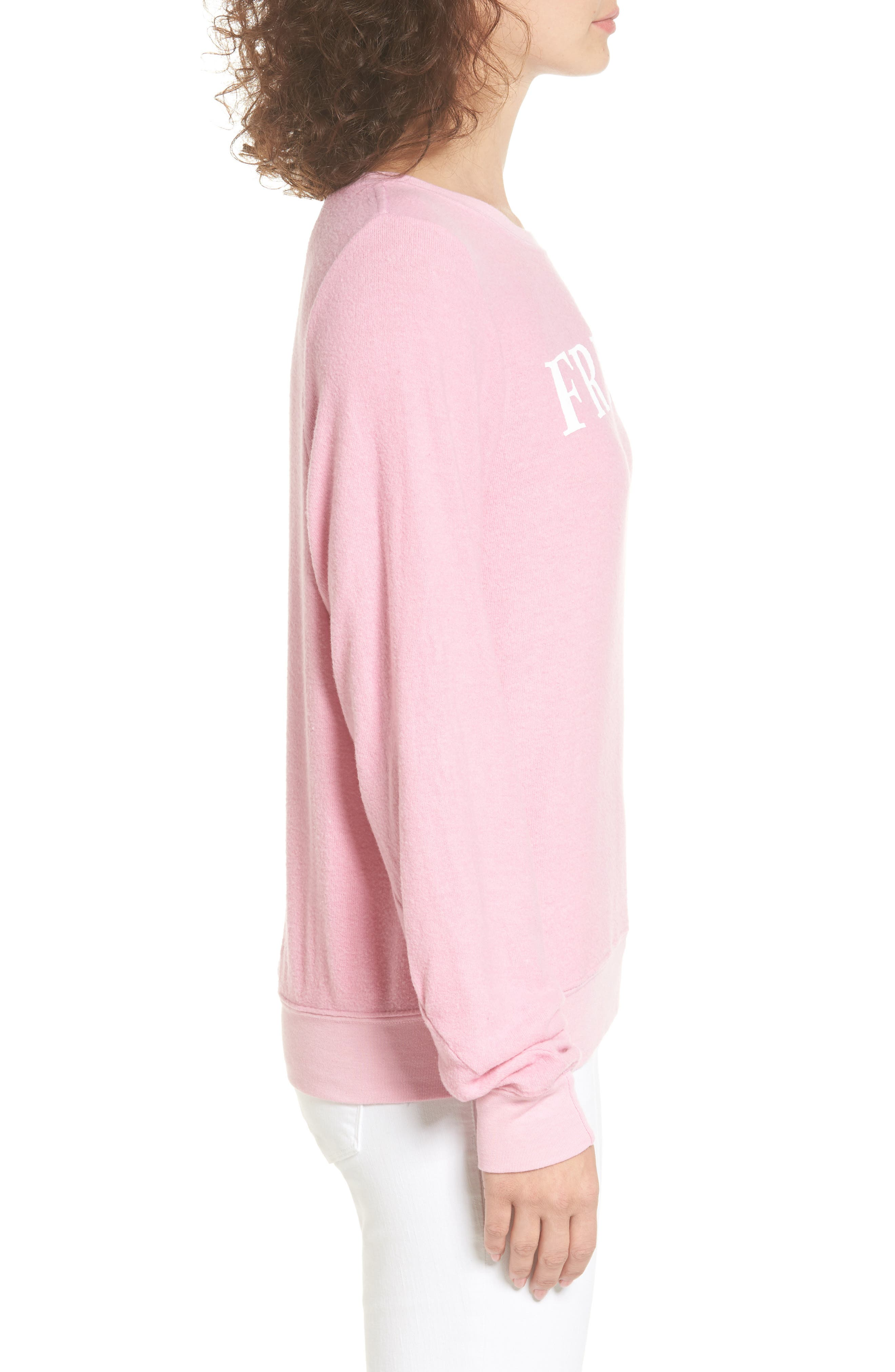 Friday Sweatshirt,                             Alternate thumbnail 3, color,                             Pink