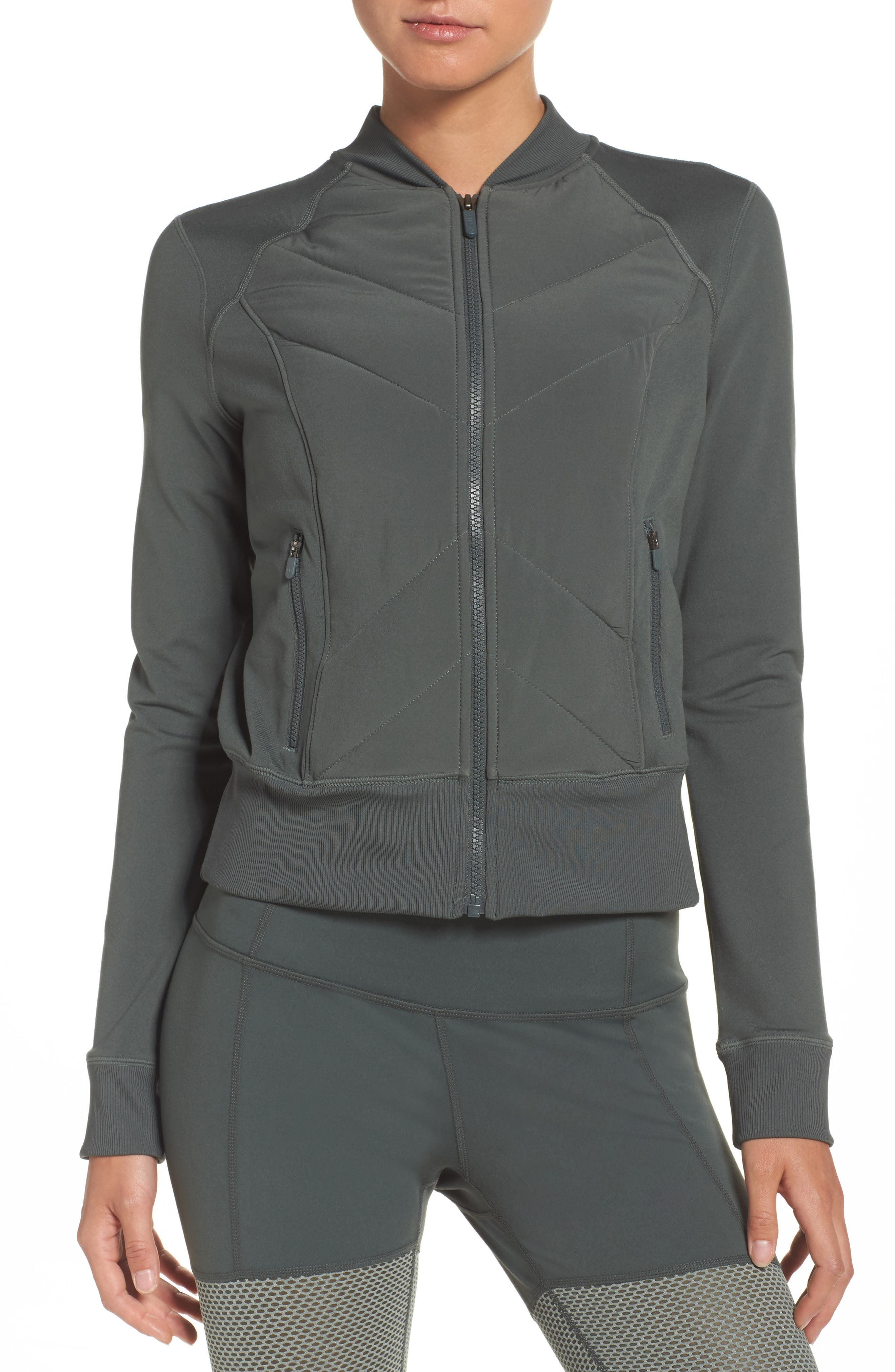 Wear It Out Bomber Jacket,                             Main thumbnail 1, color,                             Grey Urban
