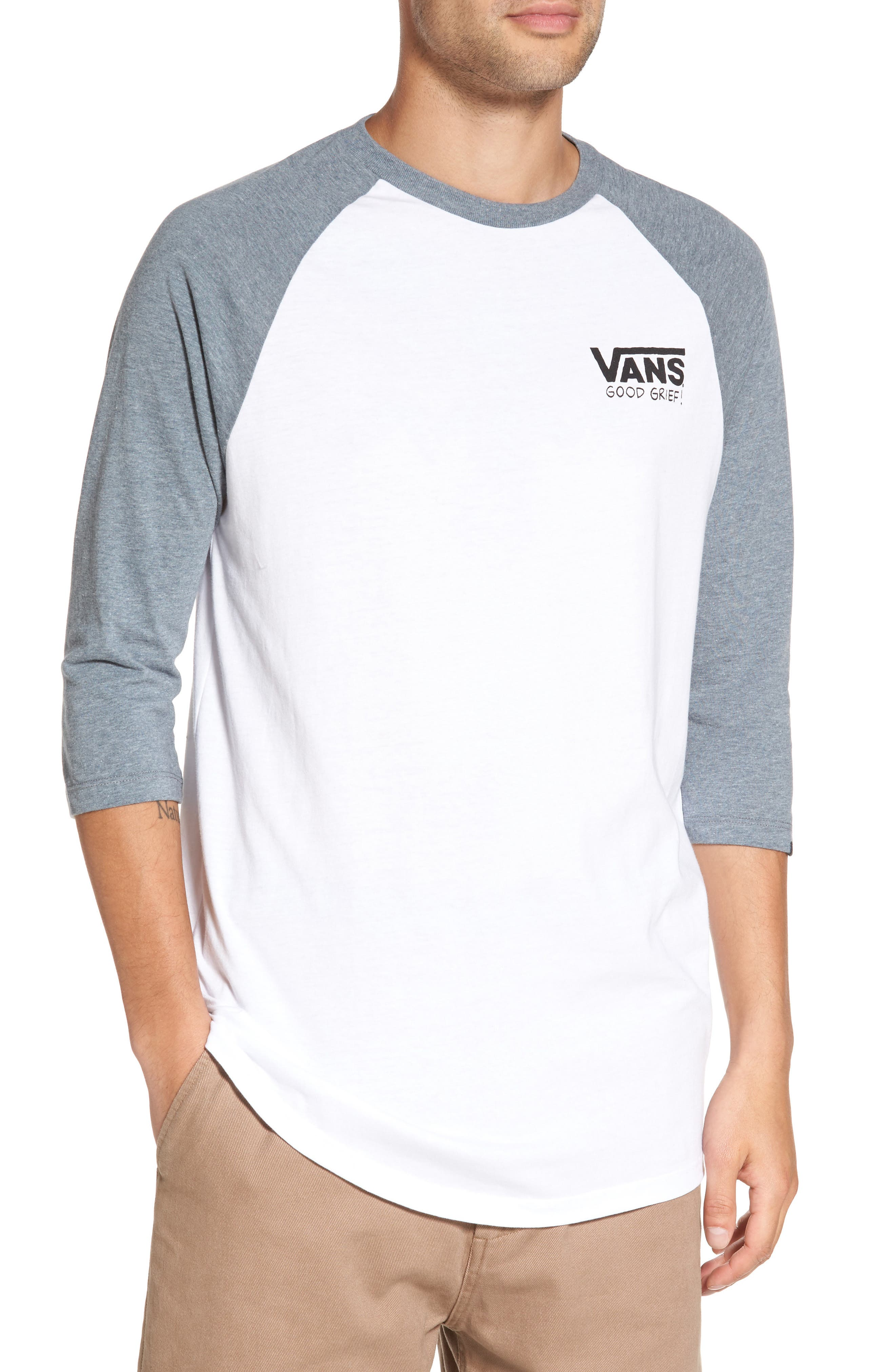 Alternate Image 1 Selected - Vans x Peanuts Graphic Raglan T-Shirt