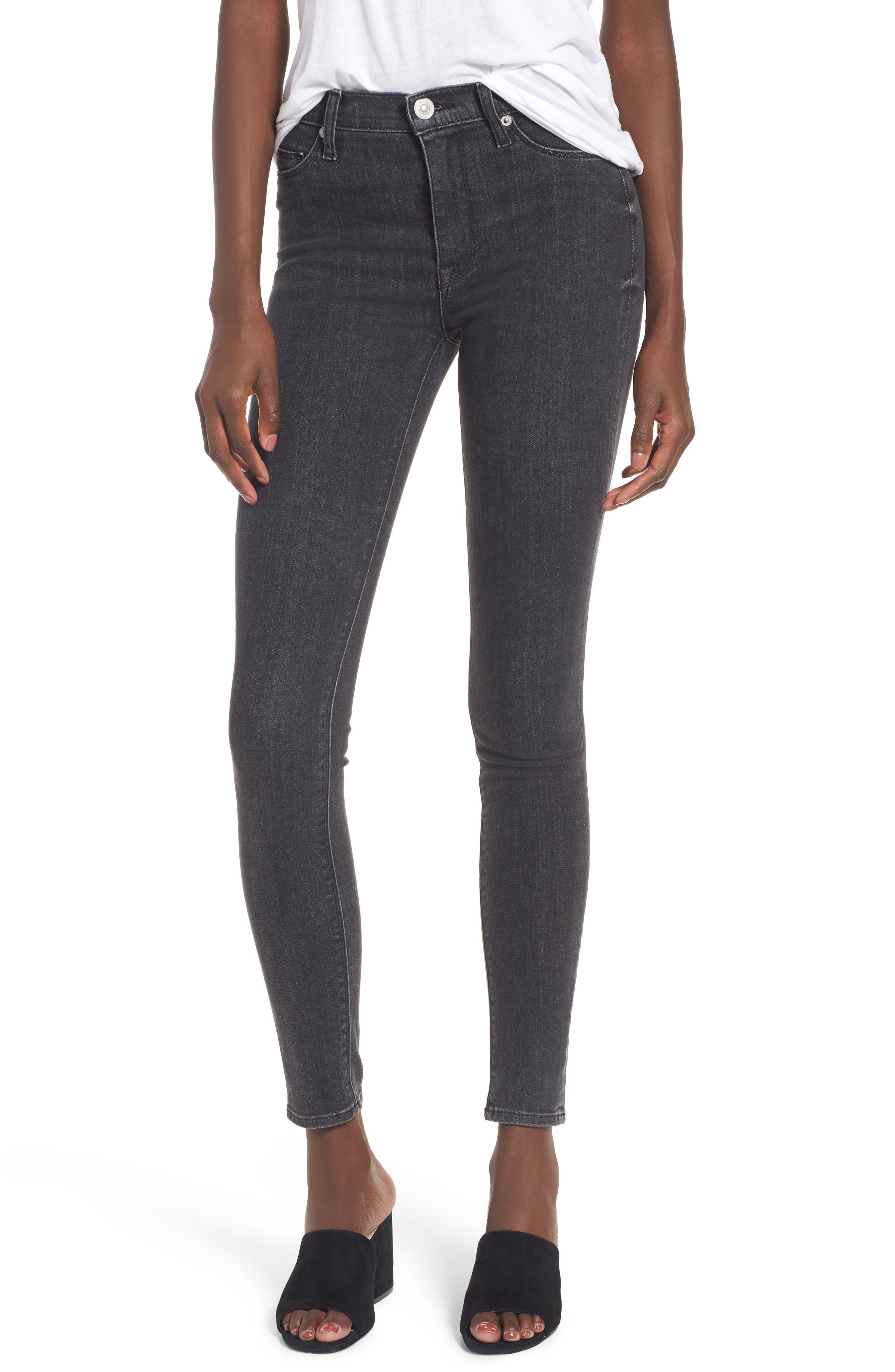 Hudson Barbara High Waist Super Skinny Jeans,                             Main thumbnail 1, color,                             Disarm
