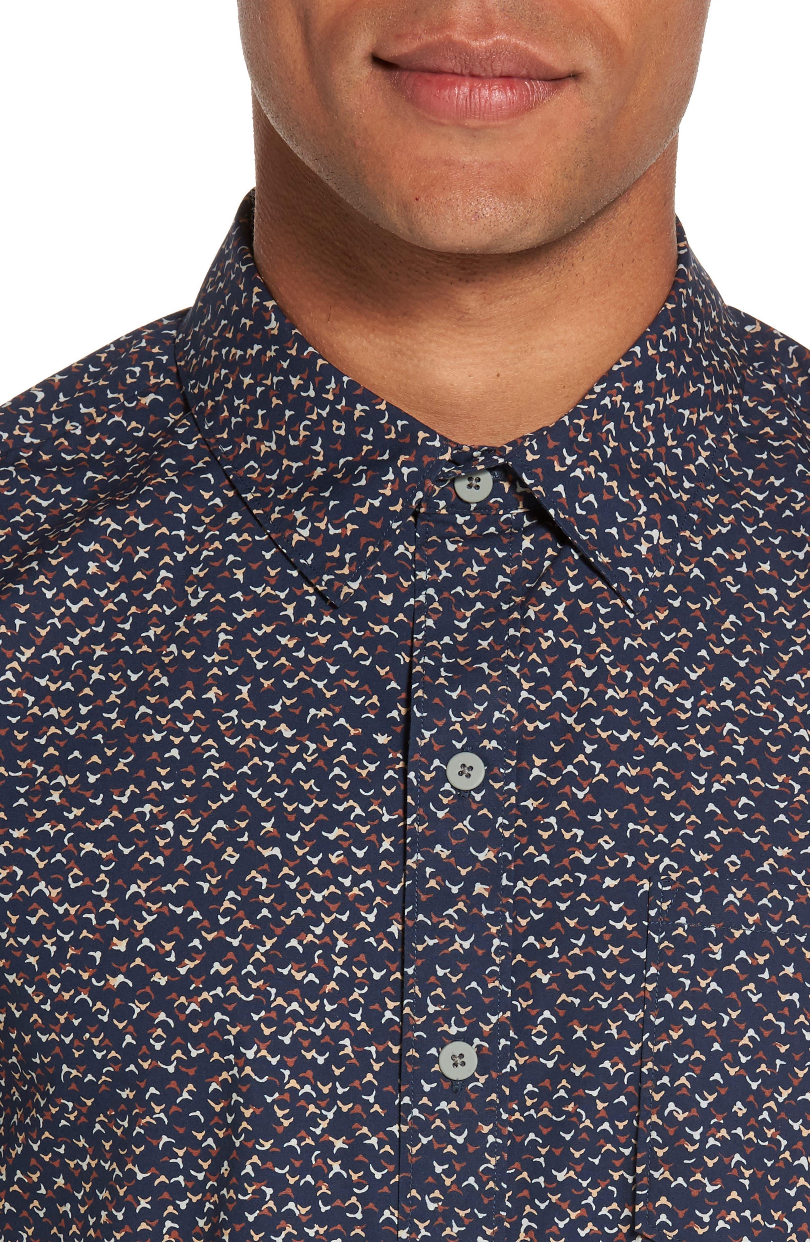 Alternate Image 4  - PAIGE Becker Patterned Woven Shirt