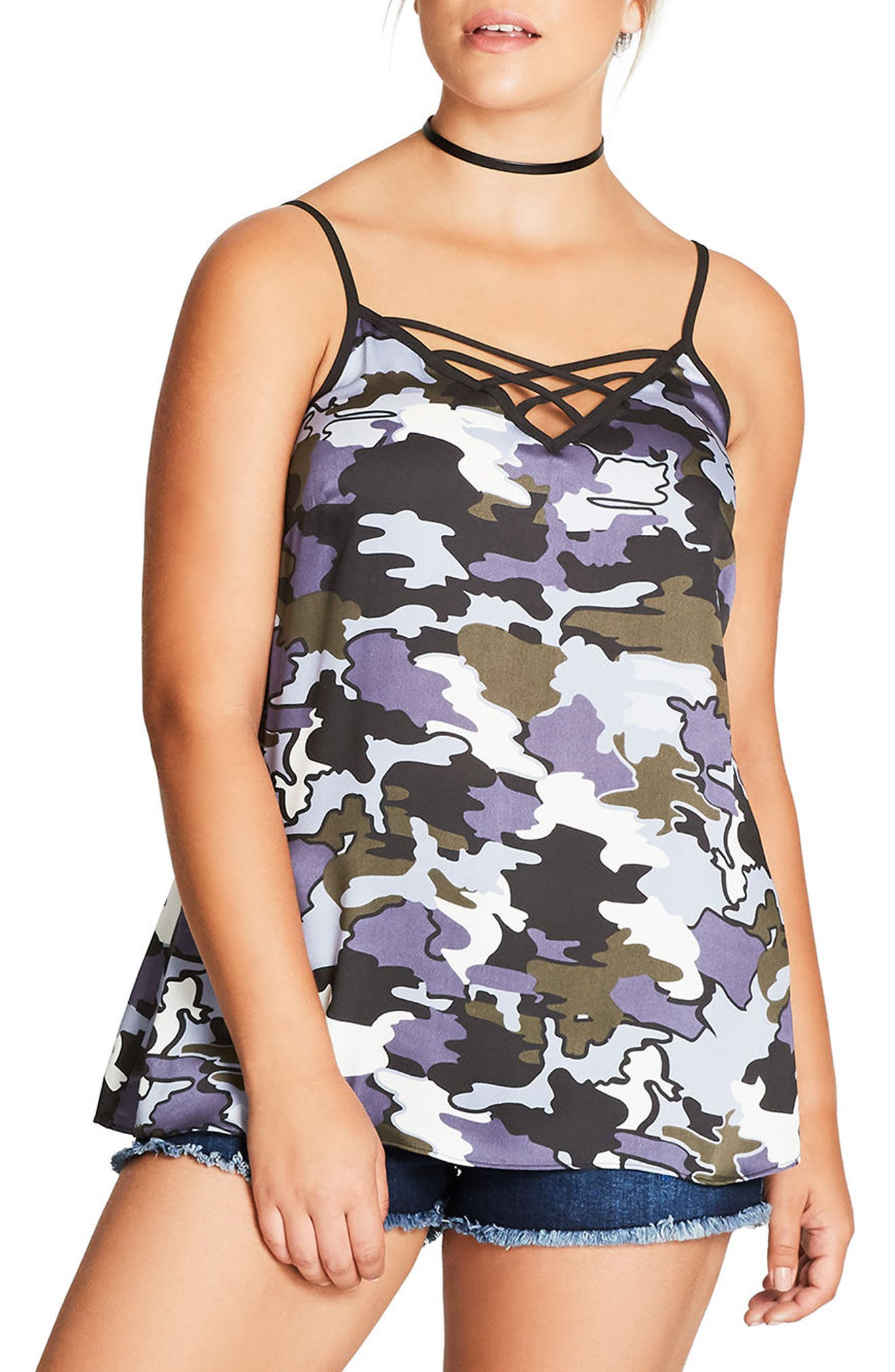 City Chic Bon Fire Camisole (Plus Size)