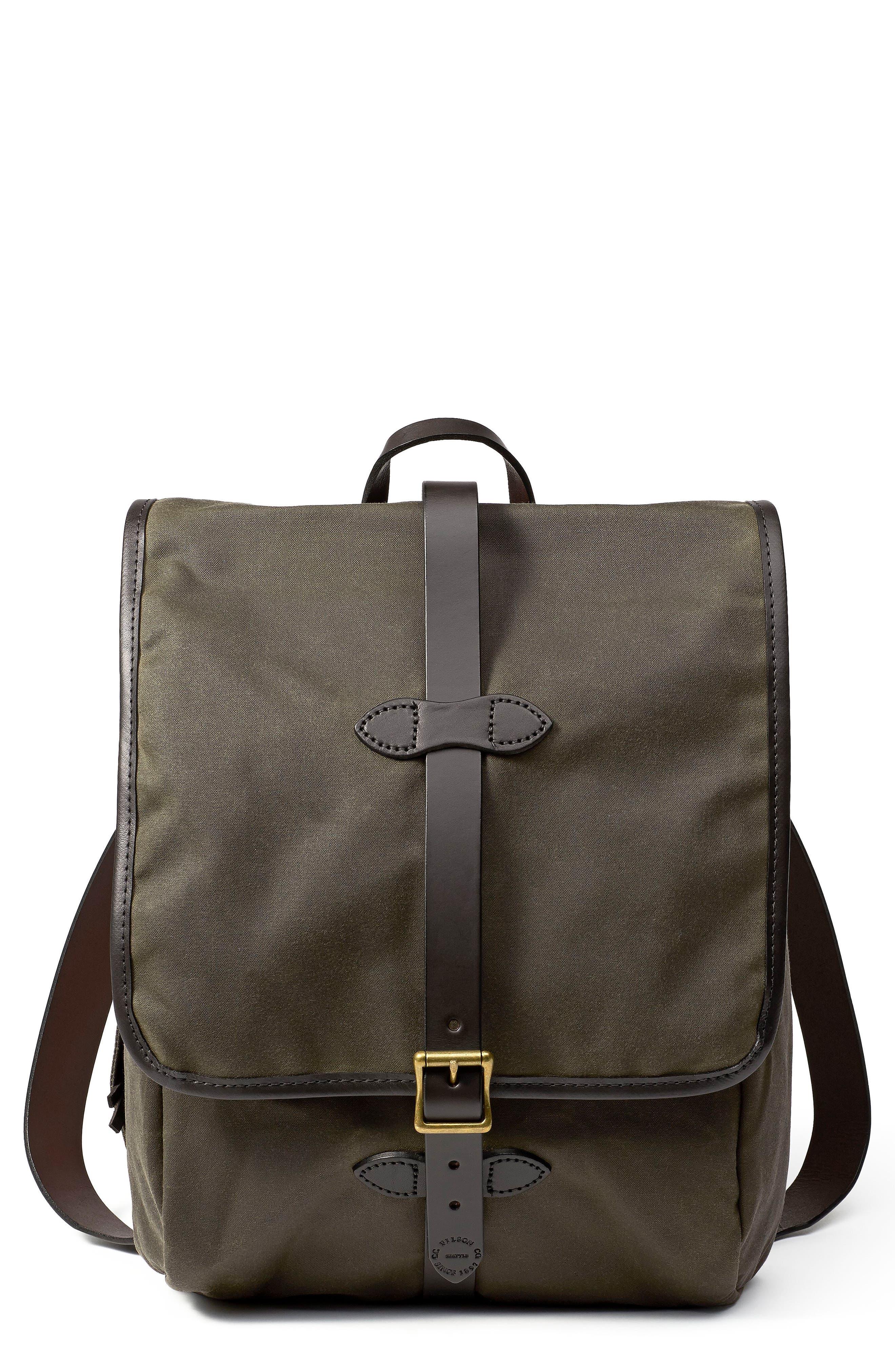 Tin Cloth Backpack,                             Main thumbnail 1, color,                             Otter Green