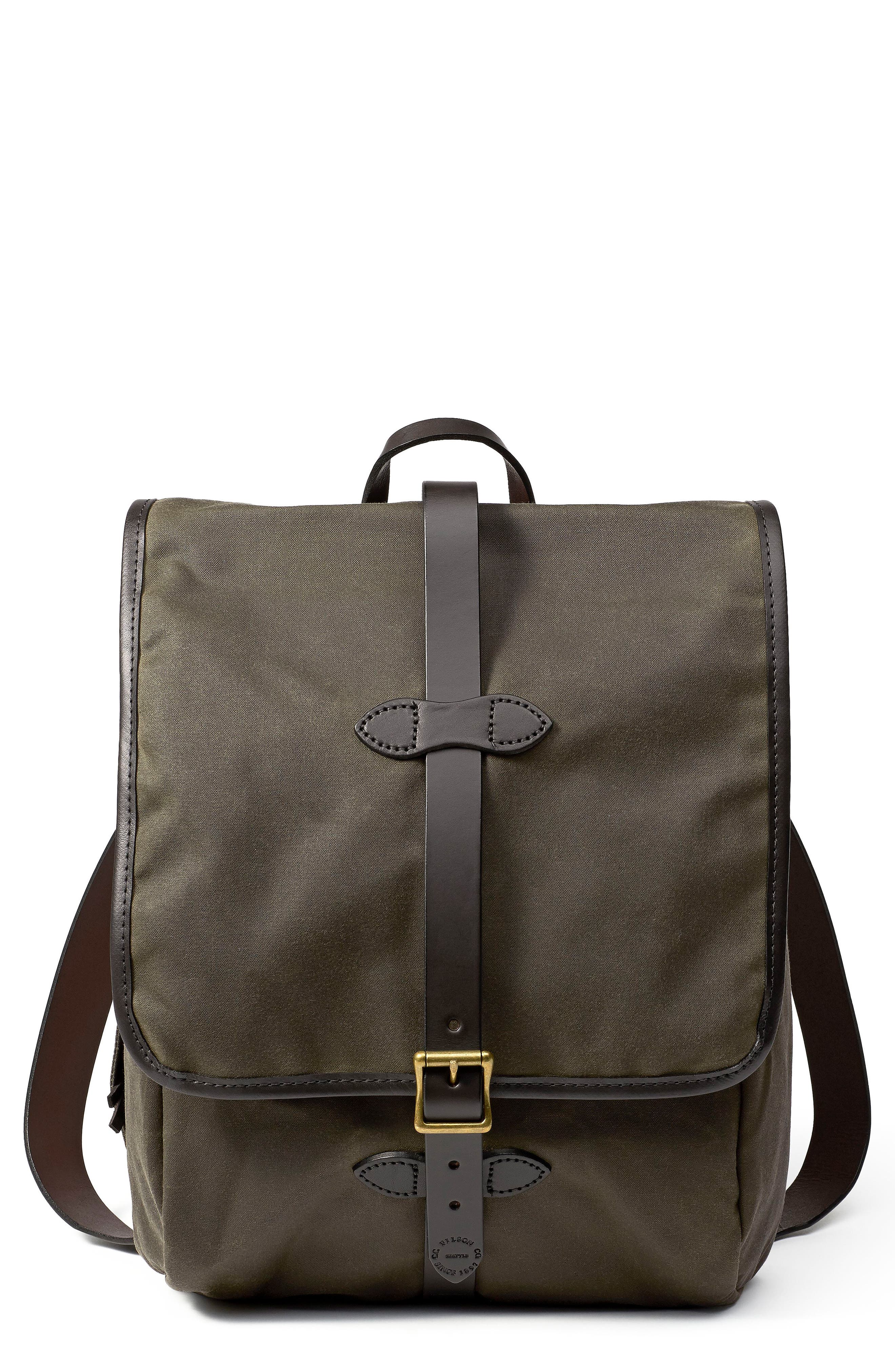 Tin Cloth Backpack,                         Main,                         color, Otter Green