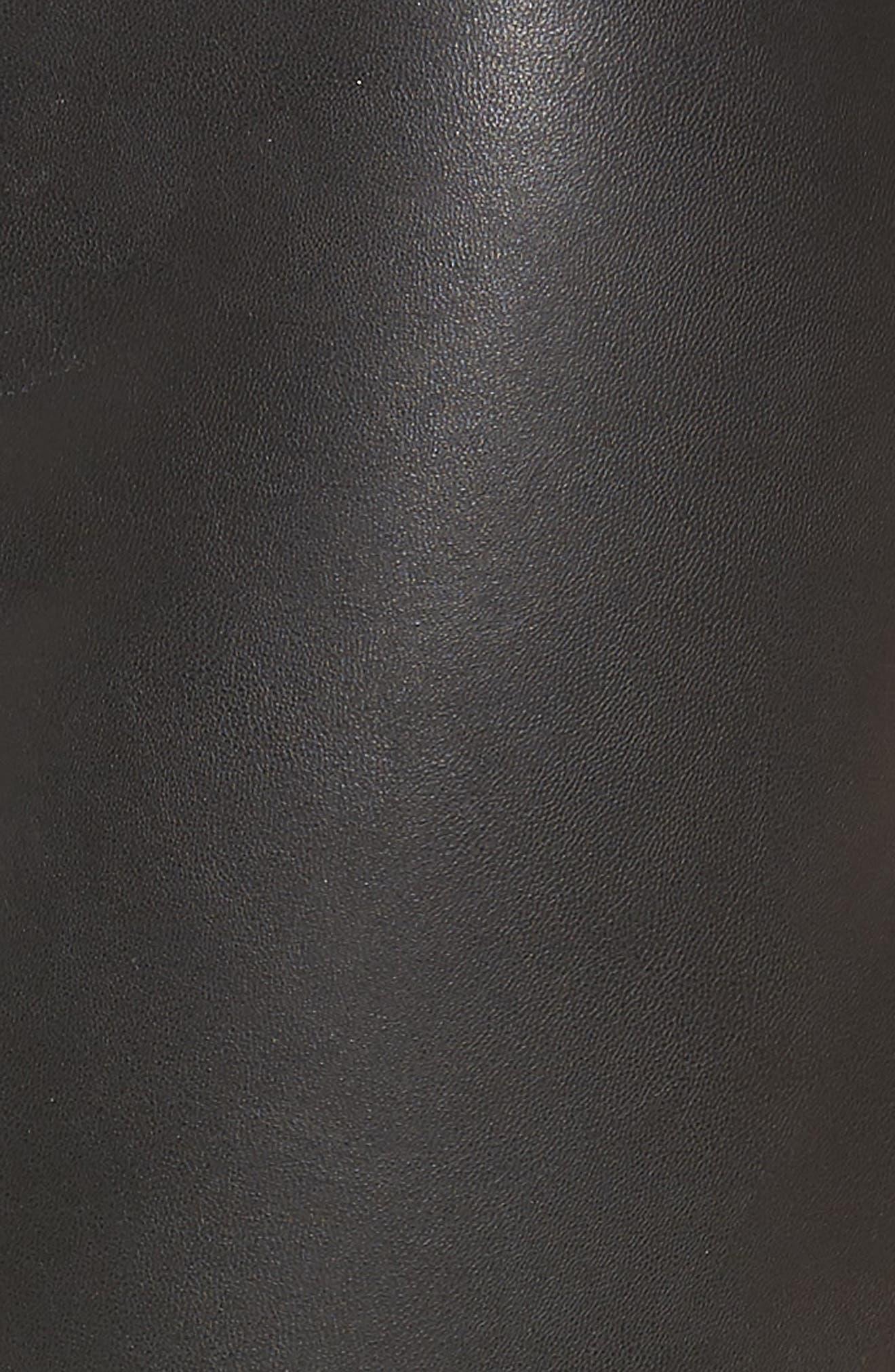 Alternate Image 6  - Hue Leatherette Curvy Leggings