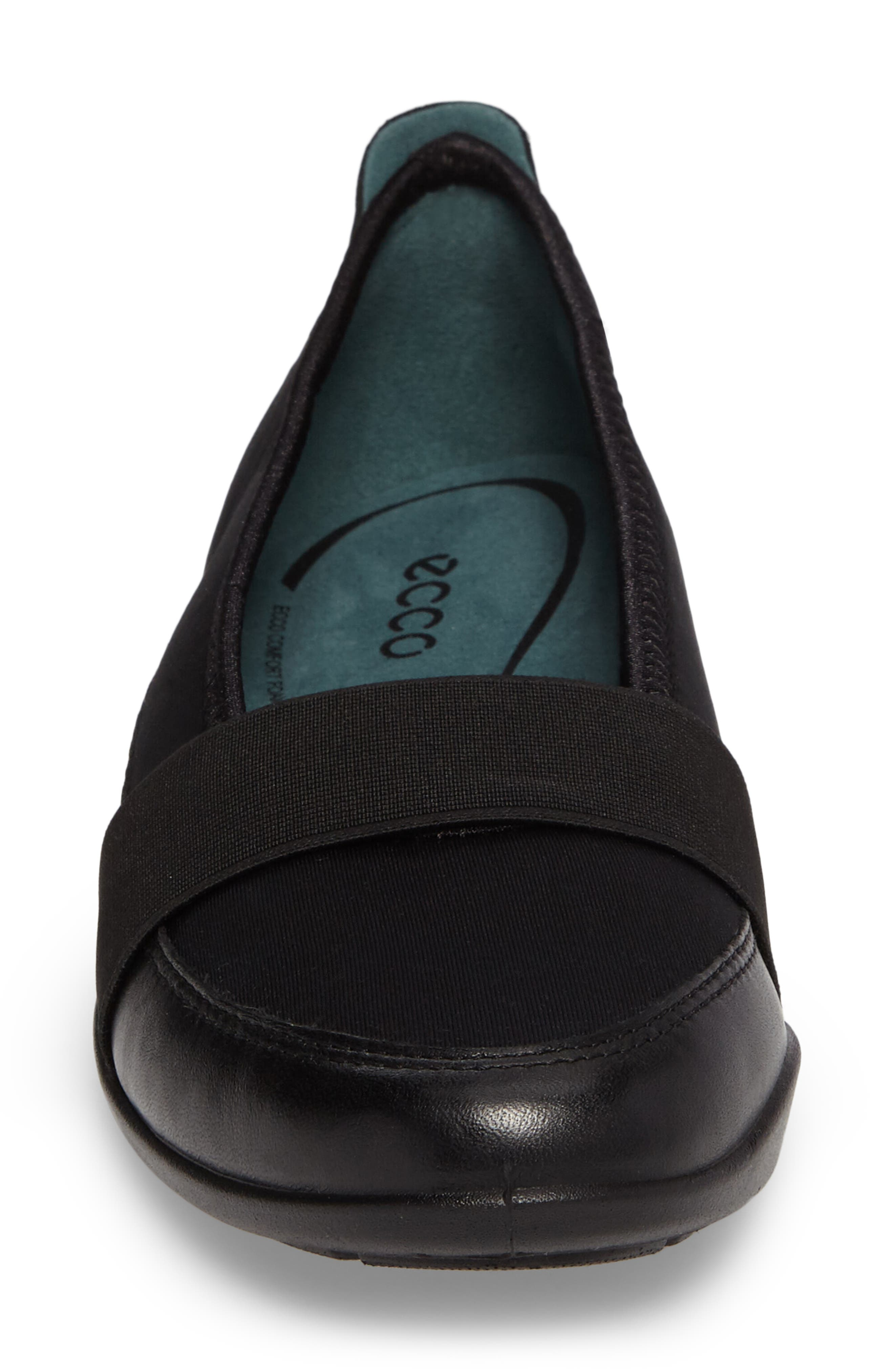 'Bluma' Slip-On Sneaker,                             Alternate thumbnail 4, color,                             Black Leather